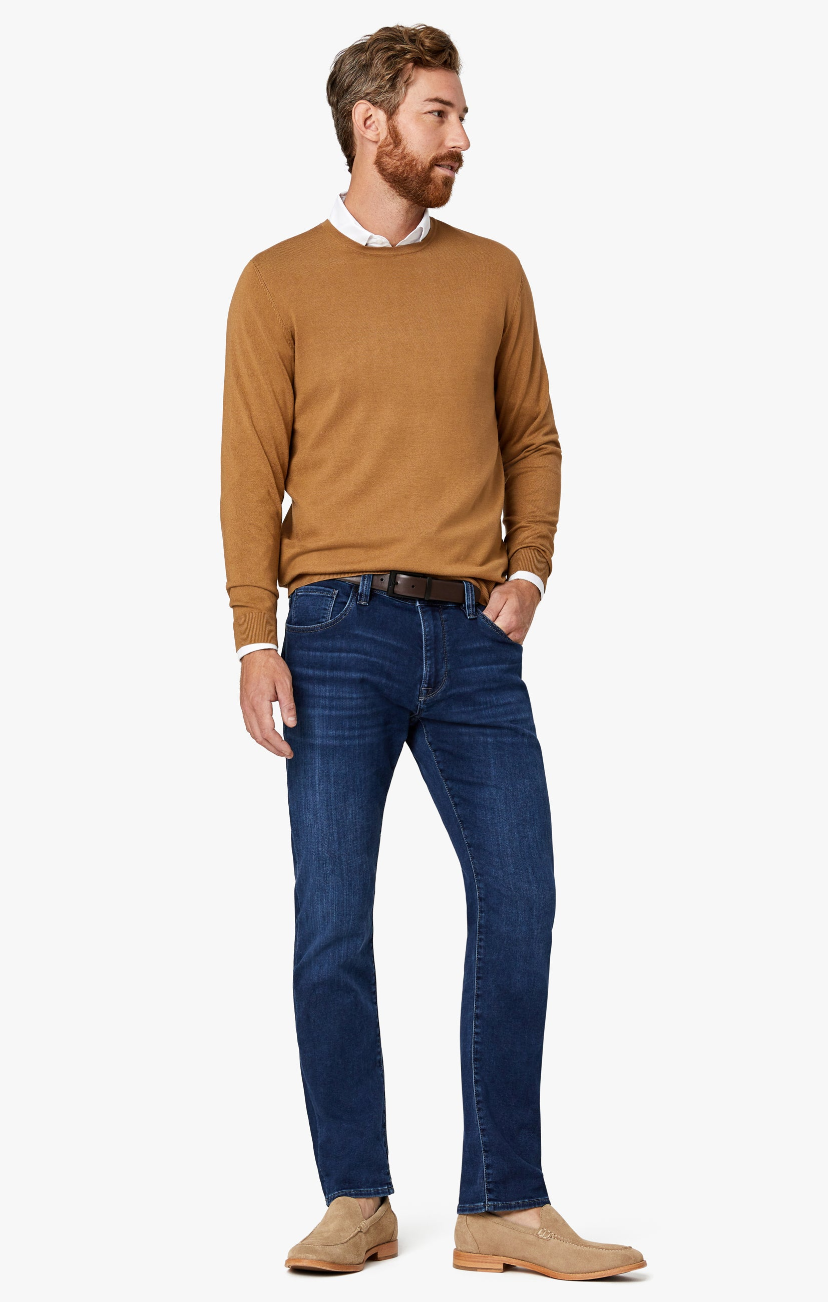 Cool Tapered Leg Jeans In Dark Brushed Smart Casual Image 5