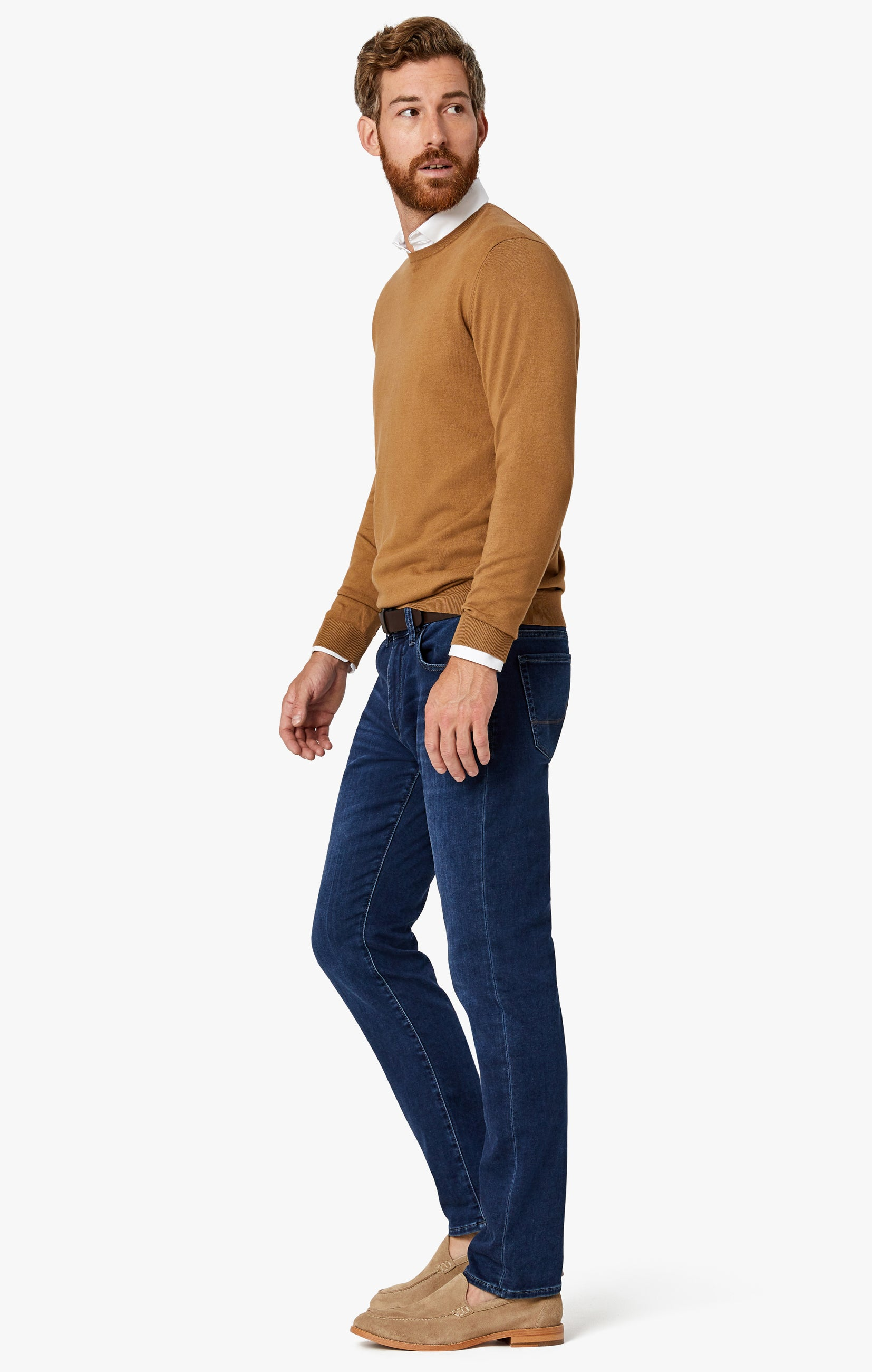 Cool Tapered Leg Jeans In Dark Brushed Smart Casual Image 6