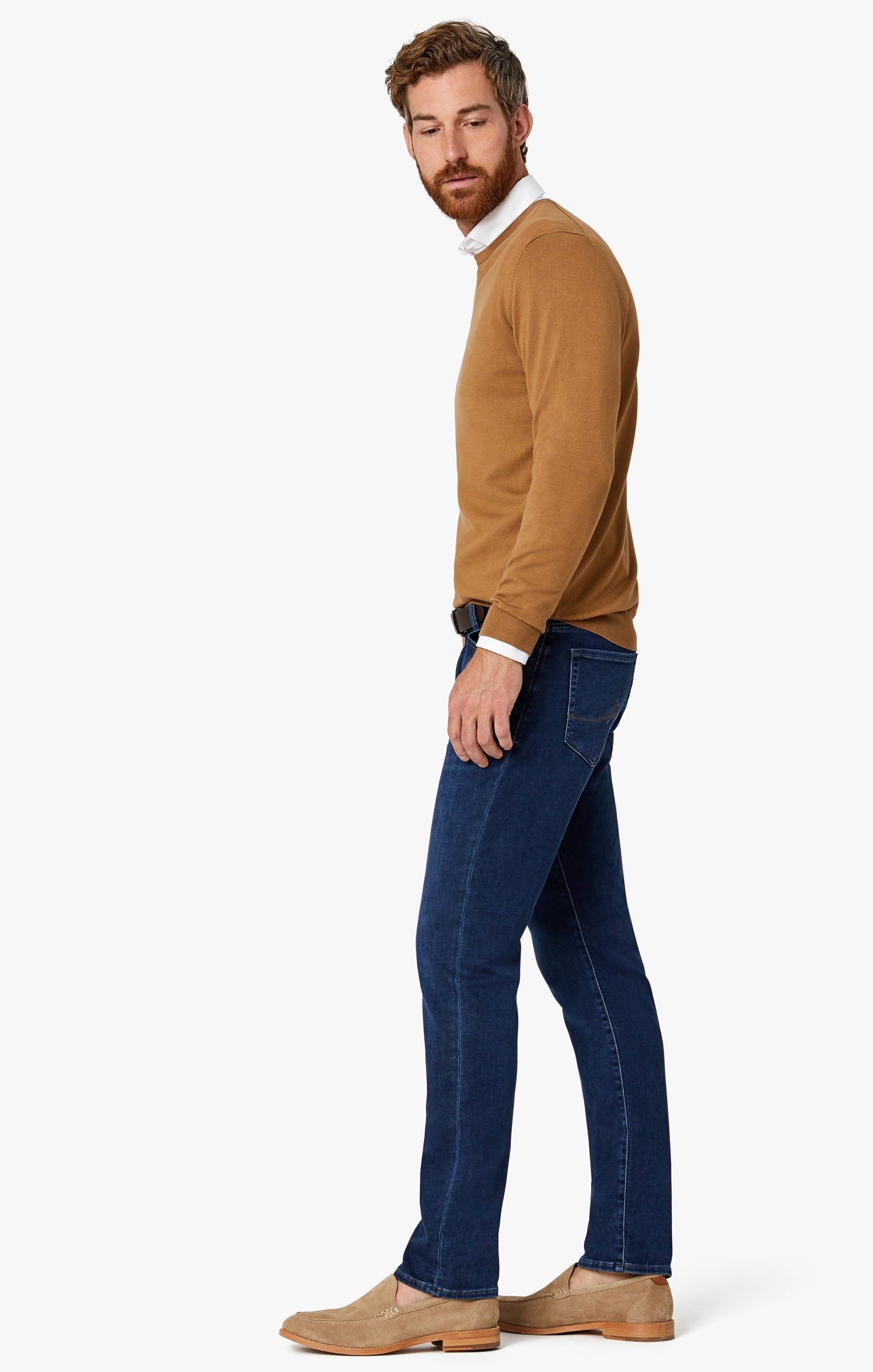 Cool Tapered Leg Jeans In Dark Brushed Smart Casual Image 8