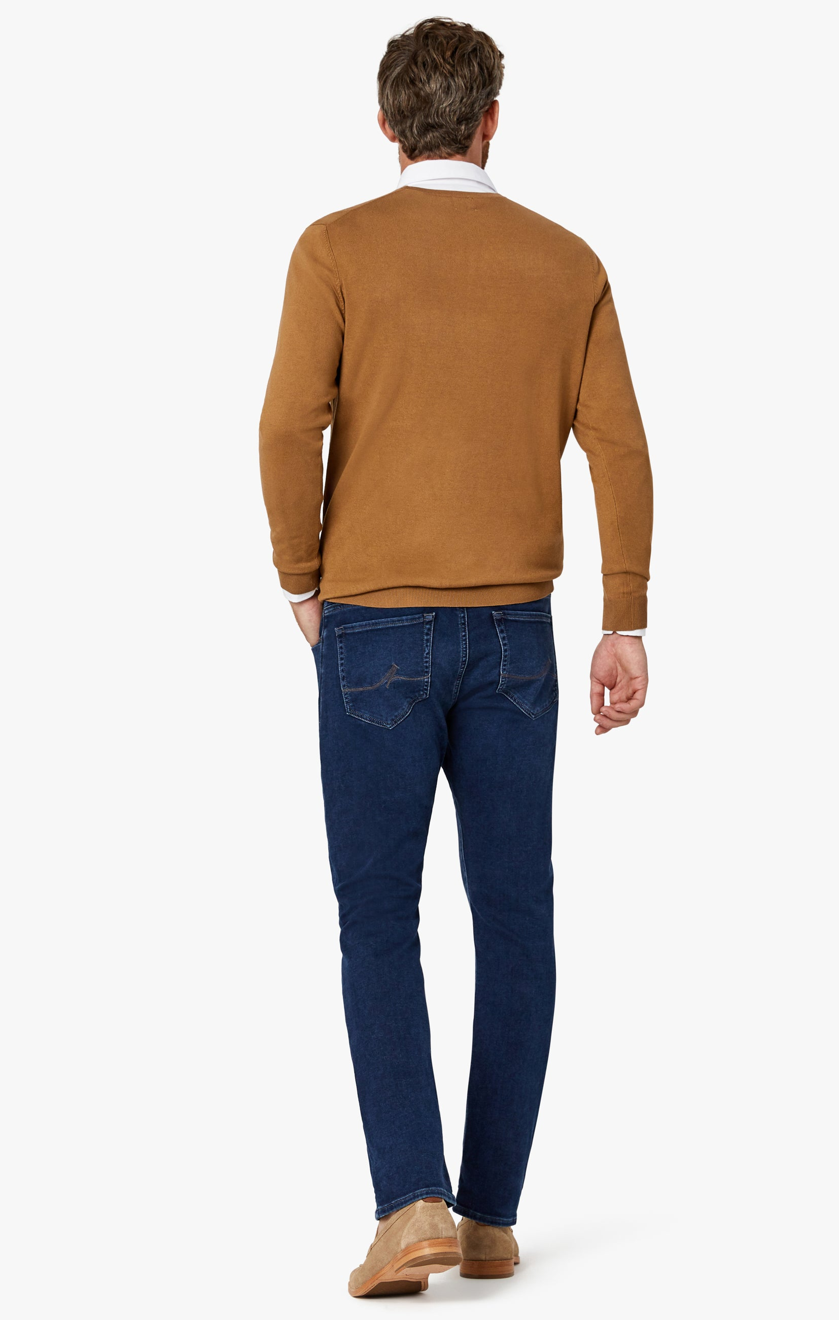Cool Tapered Leg Jeans In Dark Brushed Smart Casual Image 7