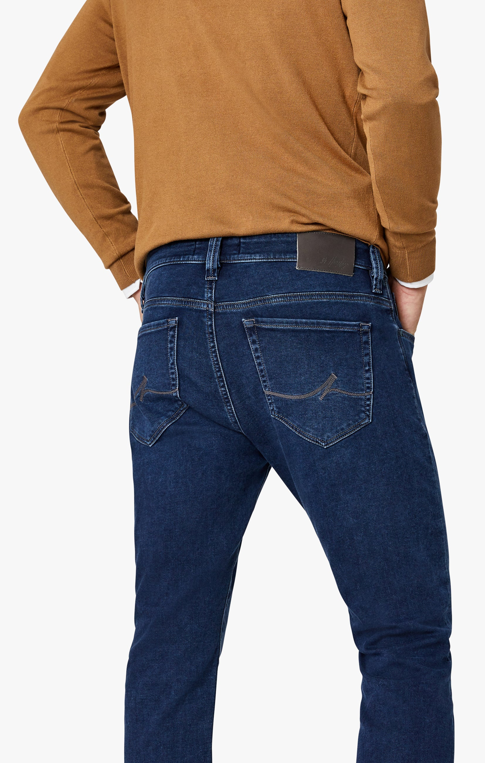 Cool Tapered Leg Jeans In Dark Brushed Smart Casual Image 3