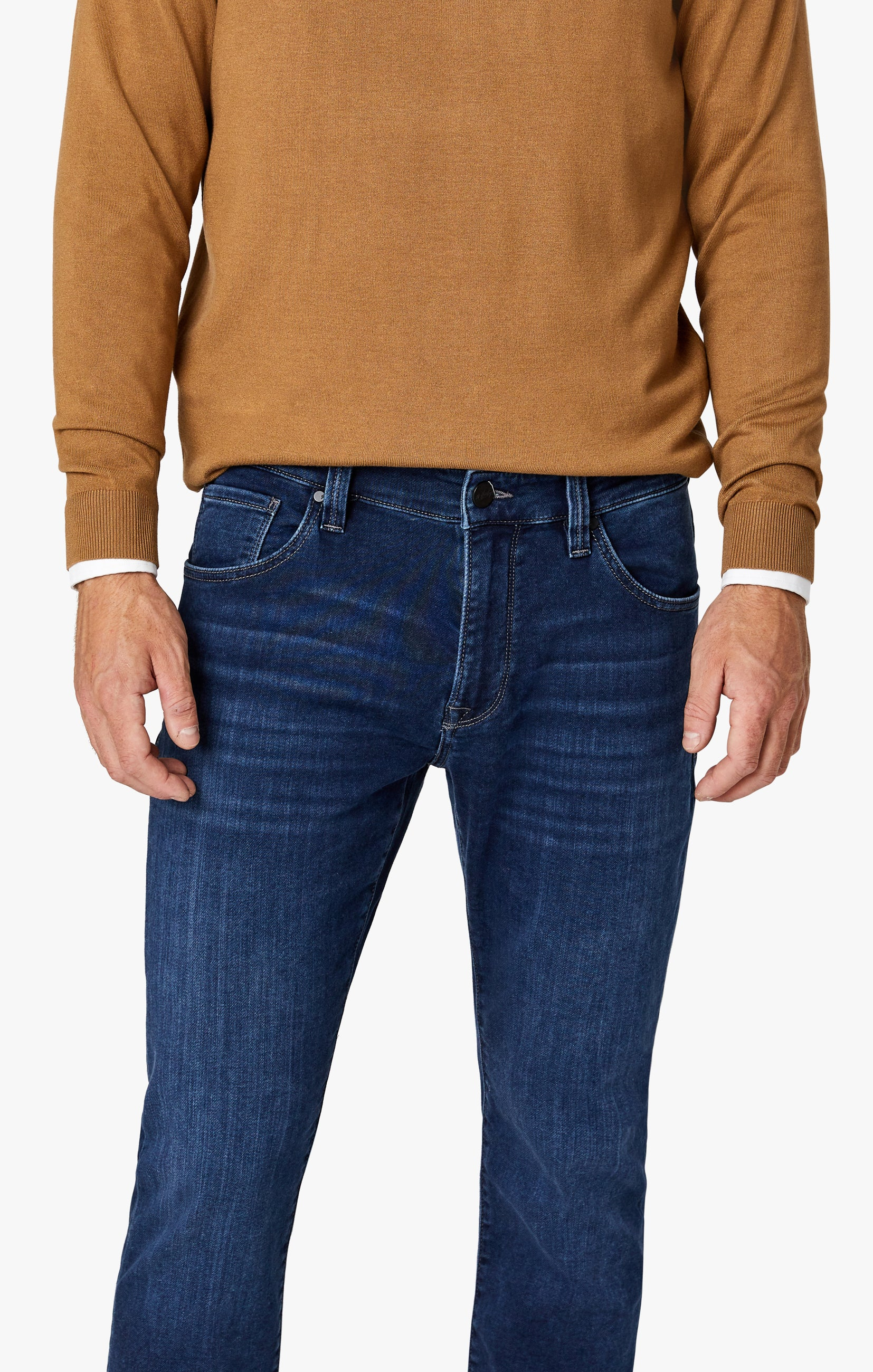 Cool Tapered Leg Jeans In Dark Brushed Smart Casual Image 2
