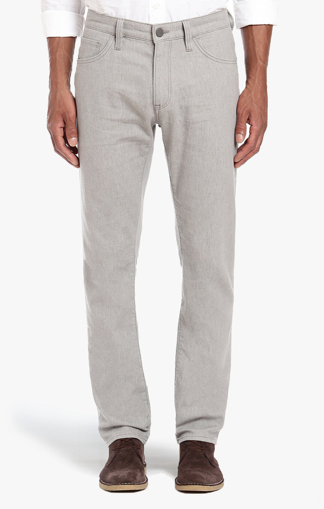 Courage Straight Leg In Grey Linen Denim - 34 Heritage