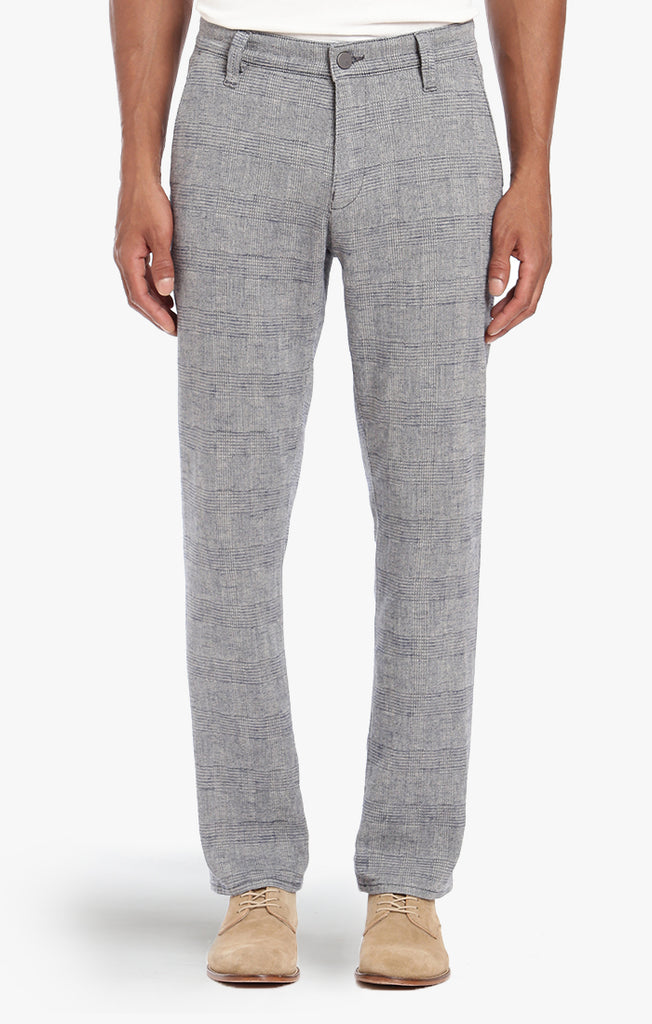 NAPLES CHINO IN GREY CHECKED