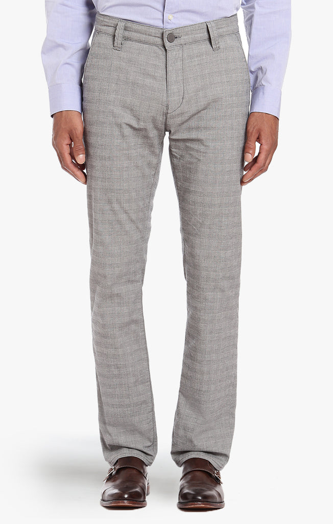 Naples Chino In Stone Checked - 34 Heritage