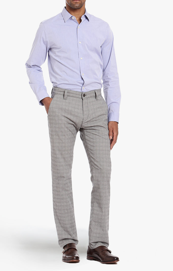Naples Chino In Stone Checked