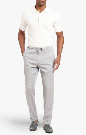 Carter Slim Leg In Grey Heather Cashmere - 34 Heritage