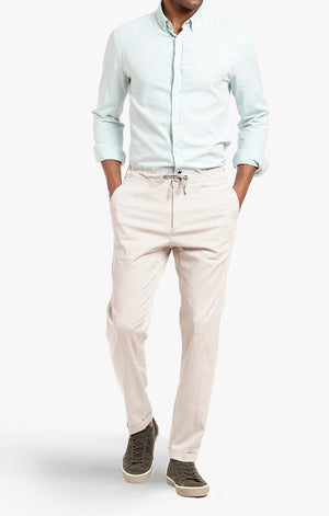Carter Slim Leg In Beige Heather Cashmere