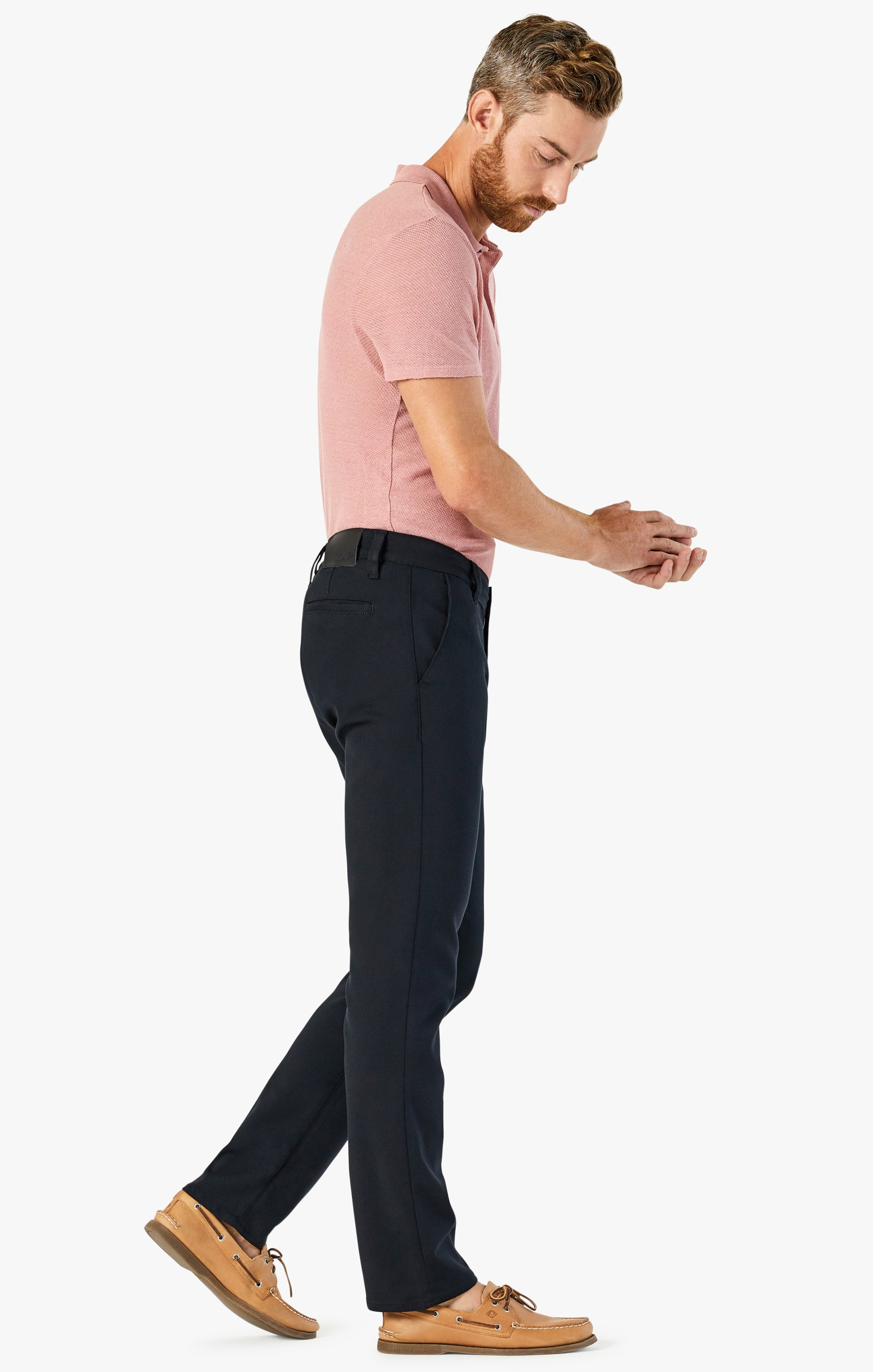 Verona Chino Pants in Black High Flyer Image 3