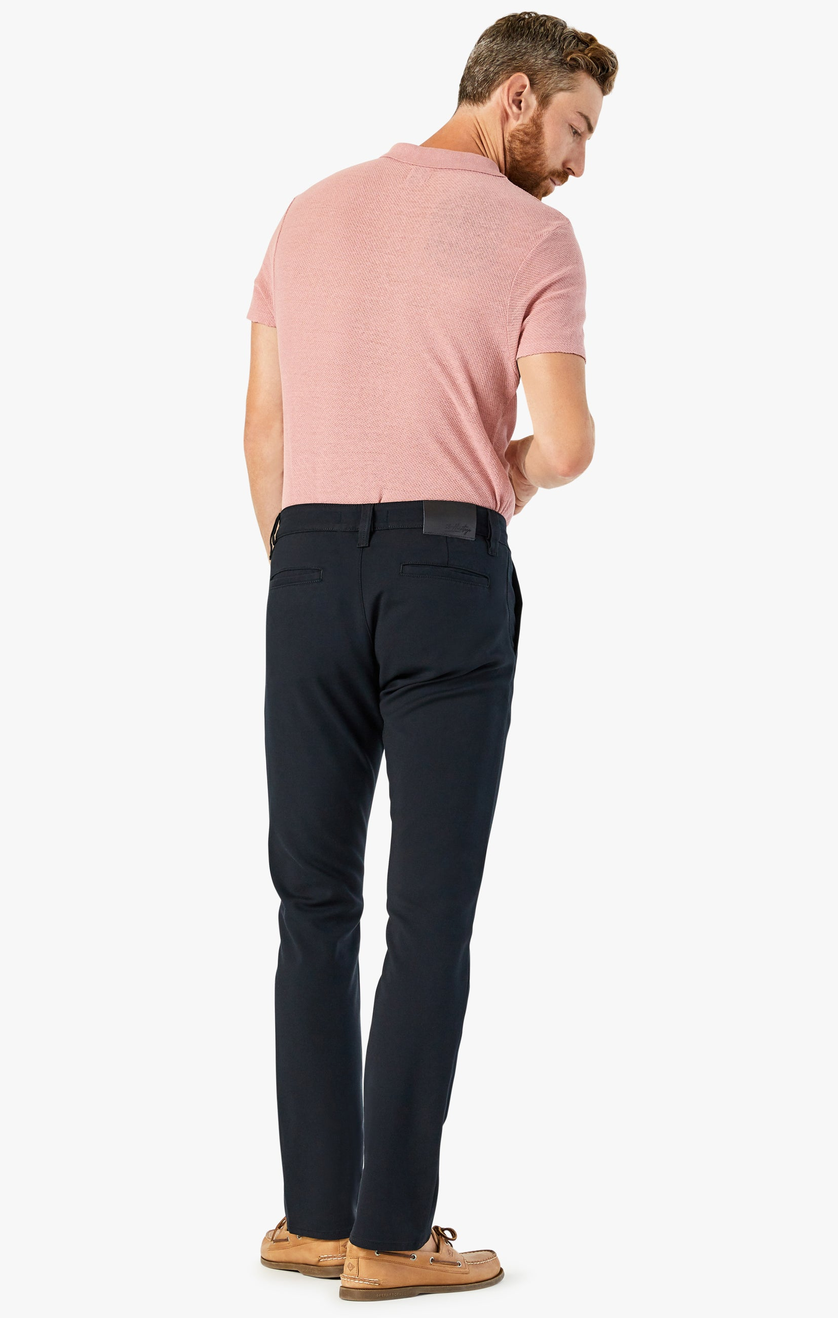 Verona Chino Pants in Black High Flyer Image 4