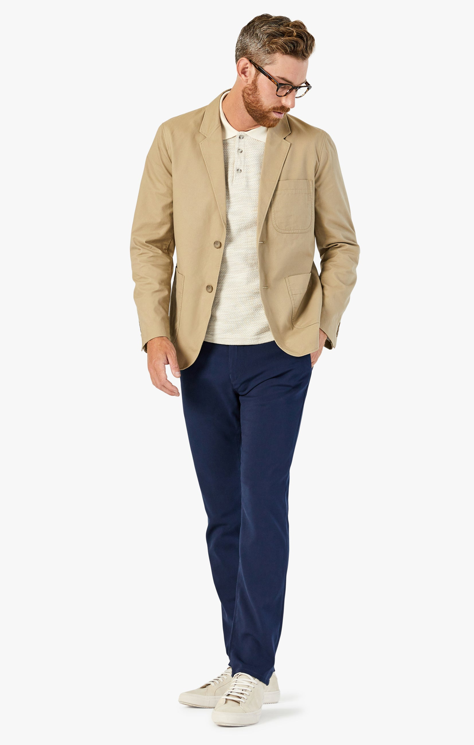 Verona Chino Pants in Navy High Flyer Image 1
