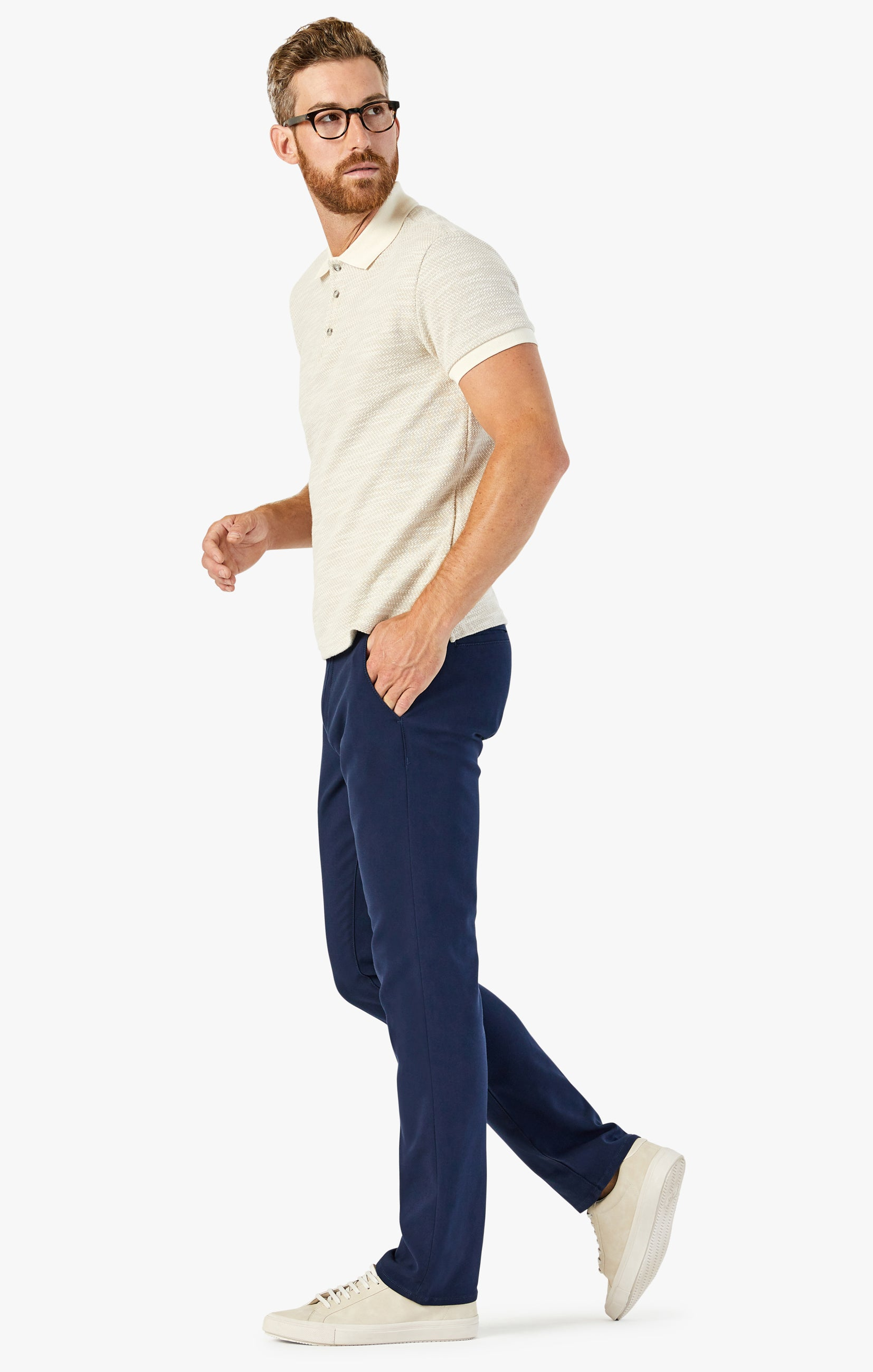 Verona Chino Pants in Navy High Flyer Image 2