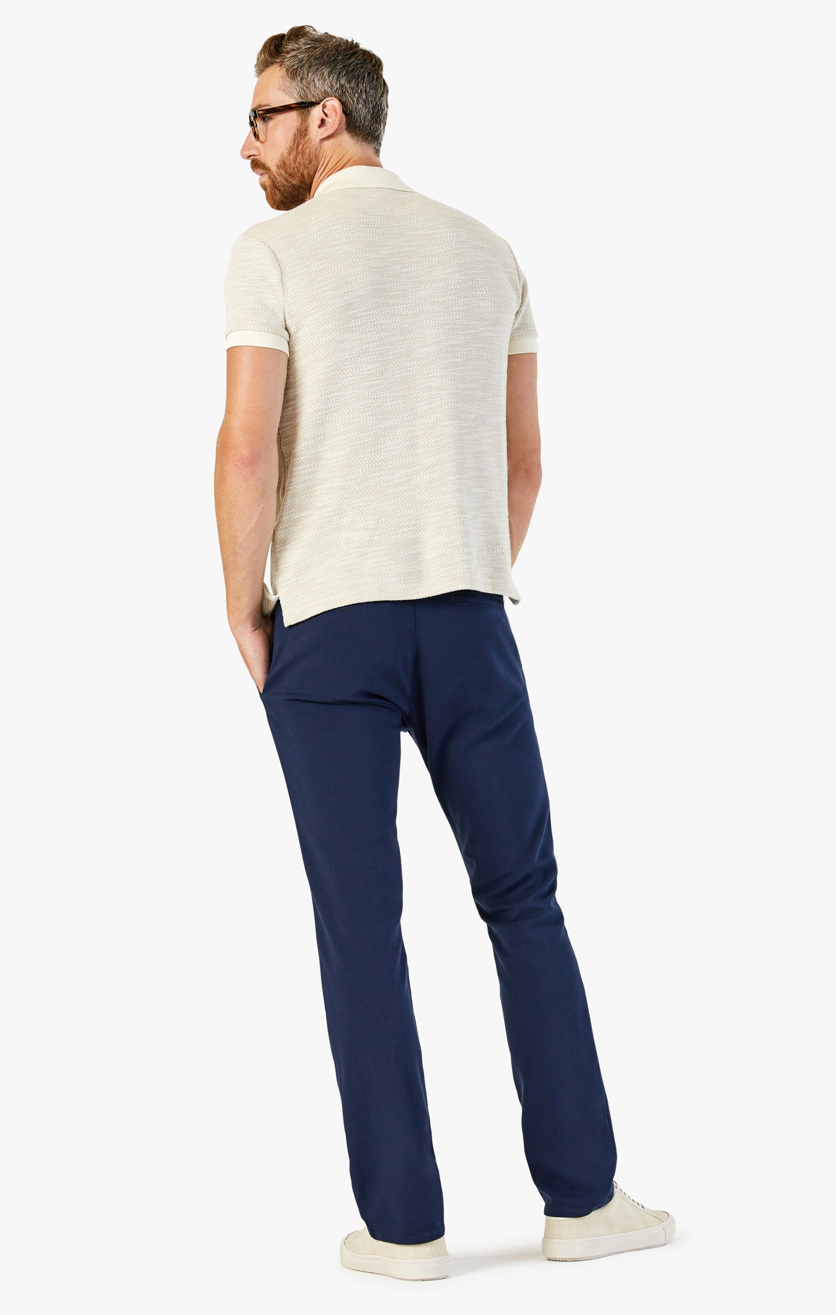 Verona Chino Pants in Navy High Flyer Image 3