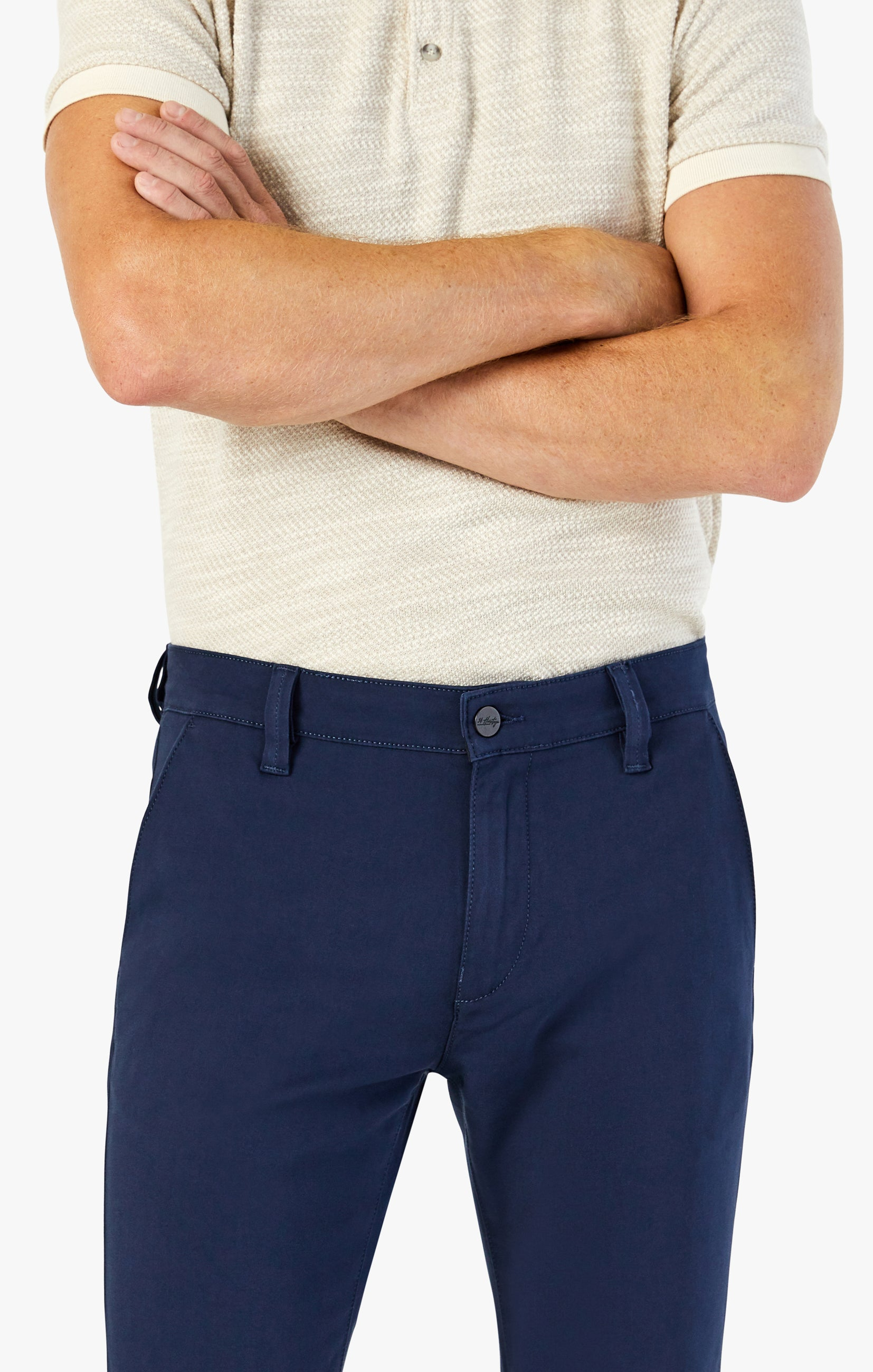 Verona Chino Pants in Navy High Flyer Image 5