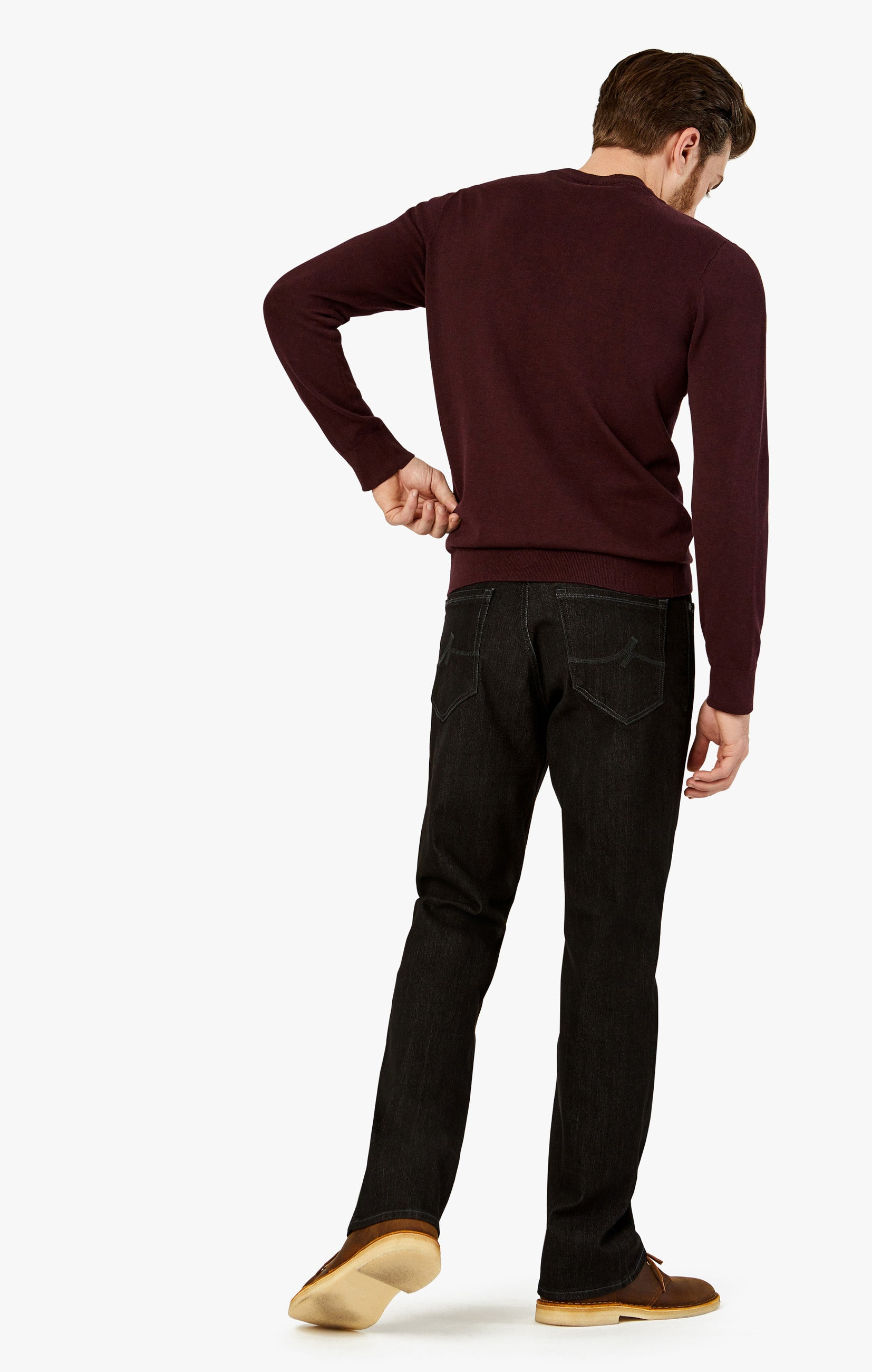 Charisma Relaxed Straight Jeans In Charcoal Comfort Image 2