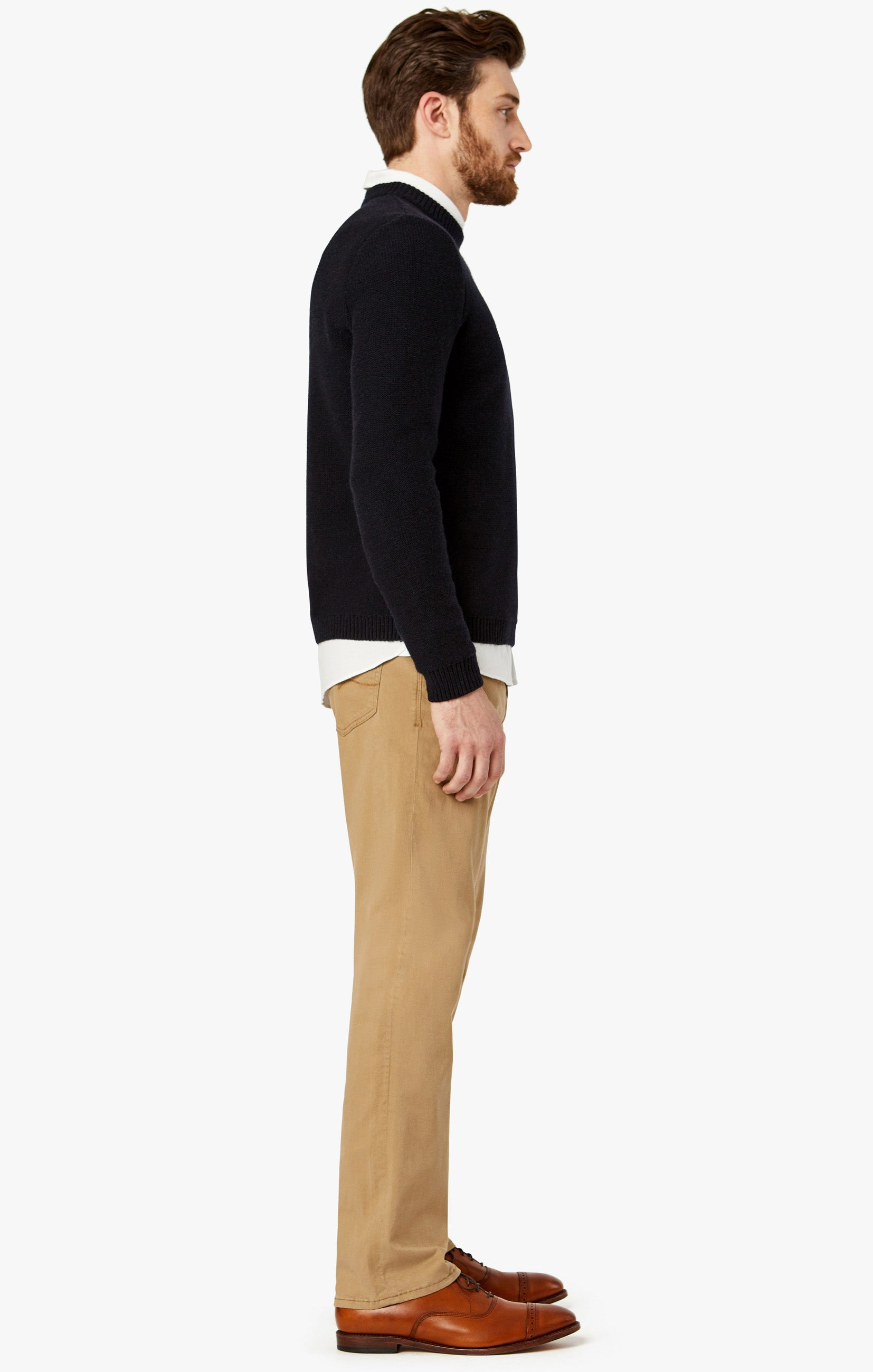 Charisma Relaxed Straight Pants In Khaki Twill Image 4