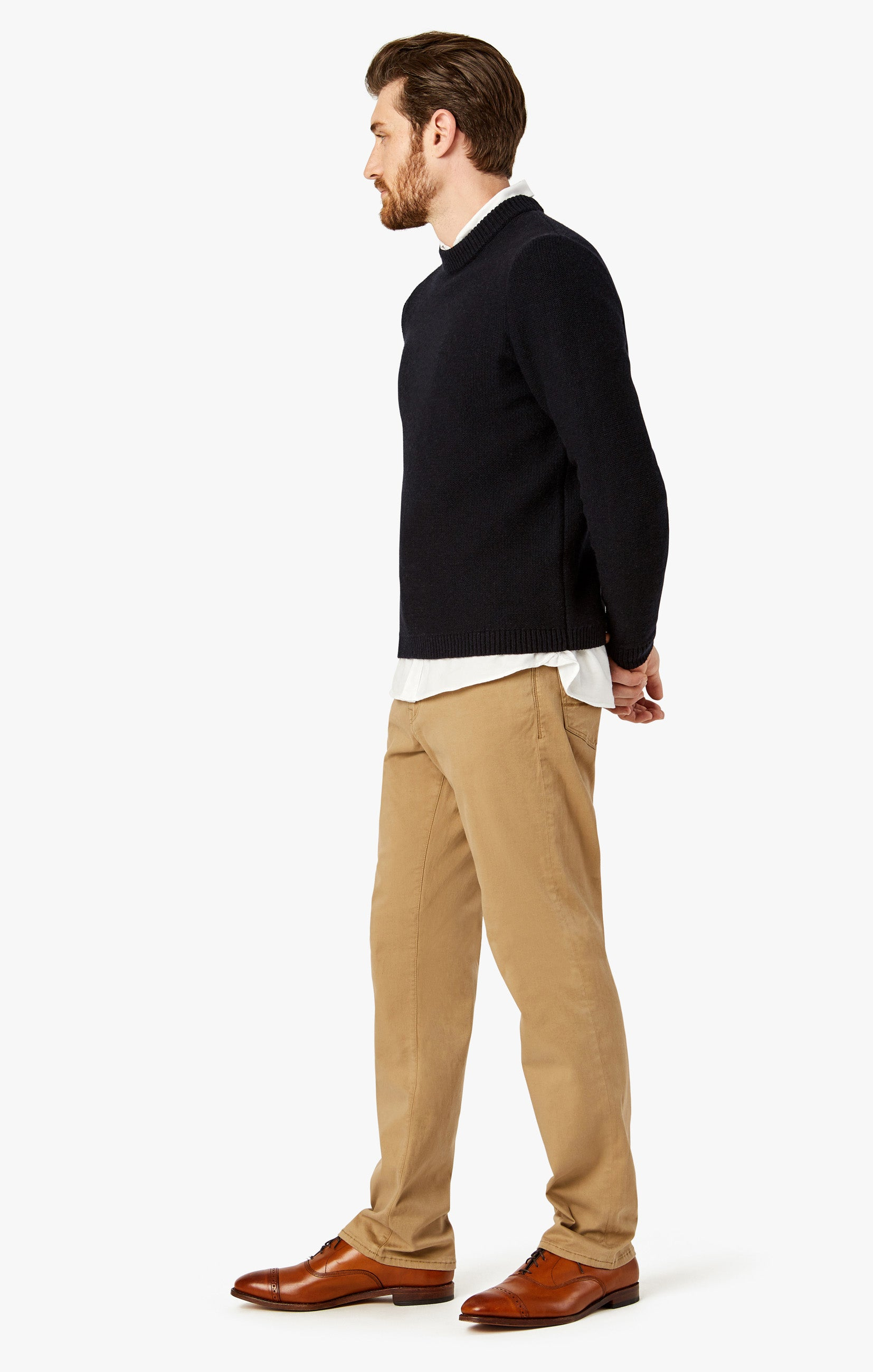 Charisma Relaxed Straight Pants In Khaki Twill Image 2