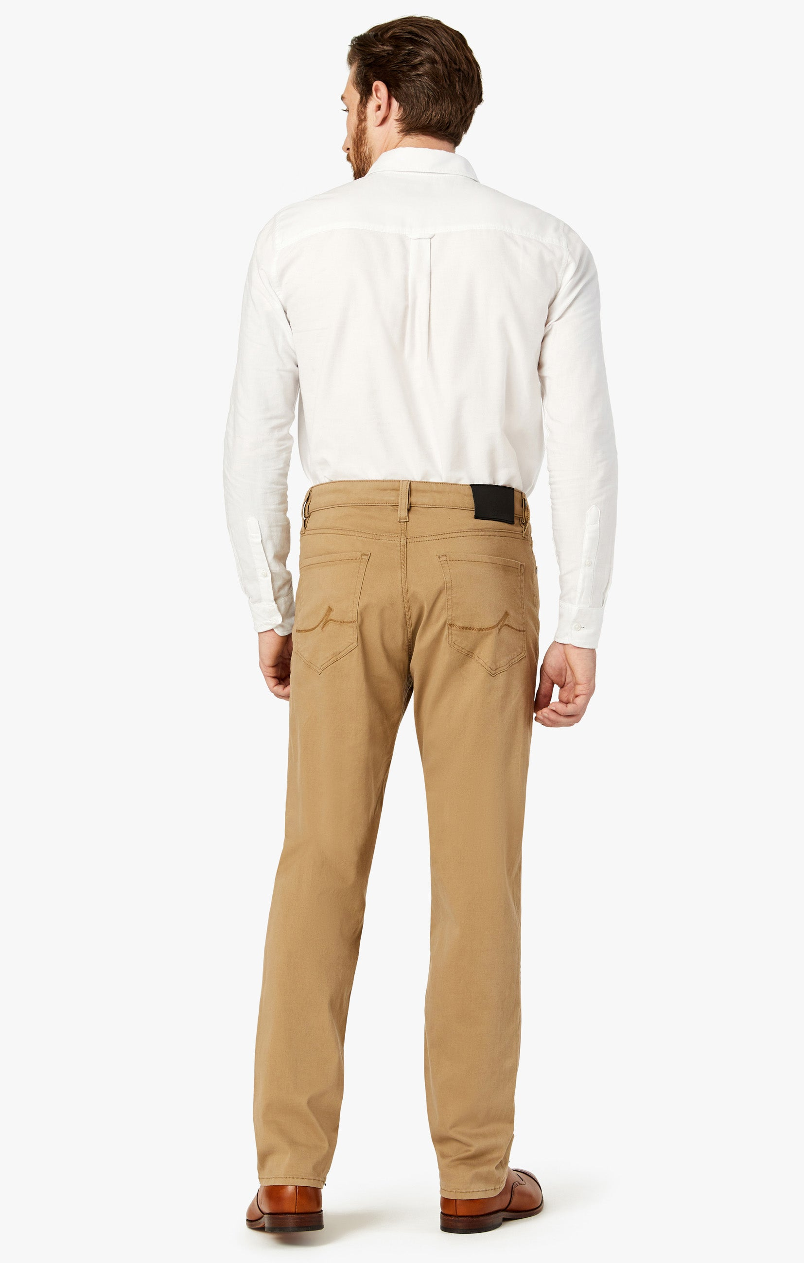 Charisma Relaxed Straight Pants In Khaki Twill Image 6