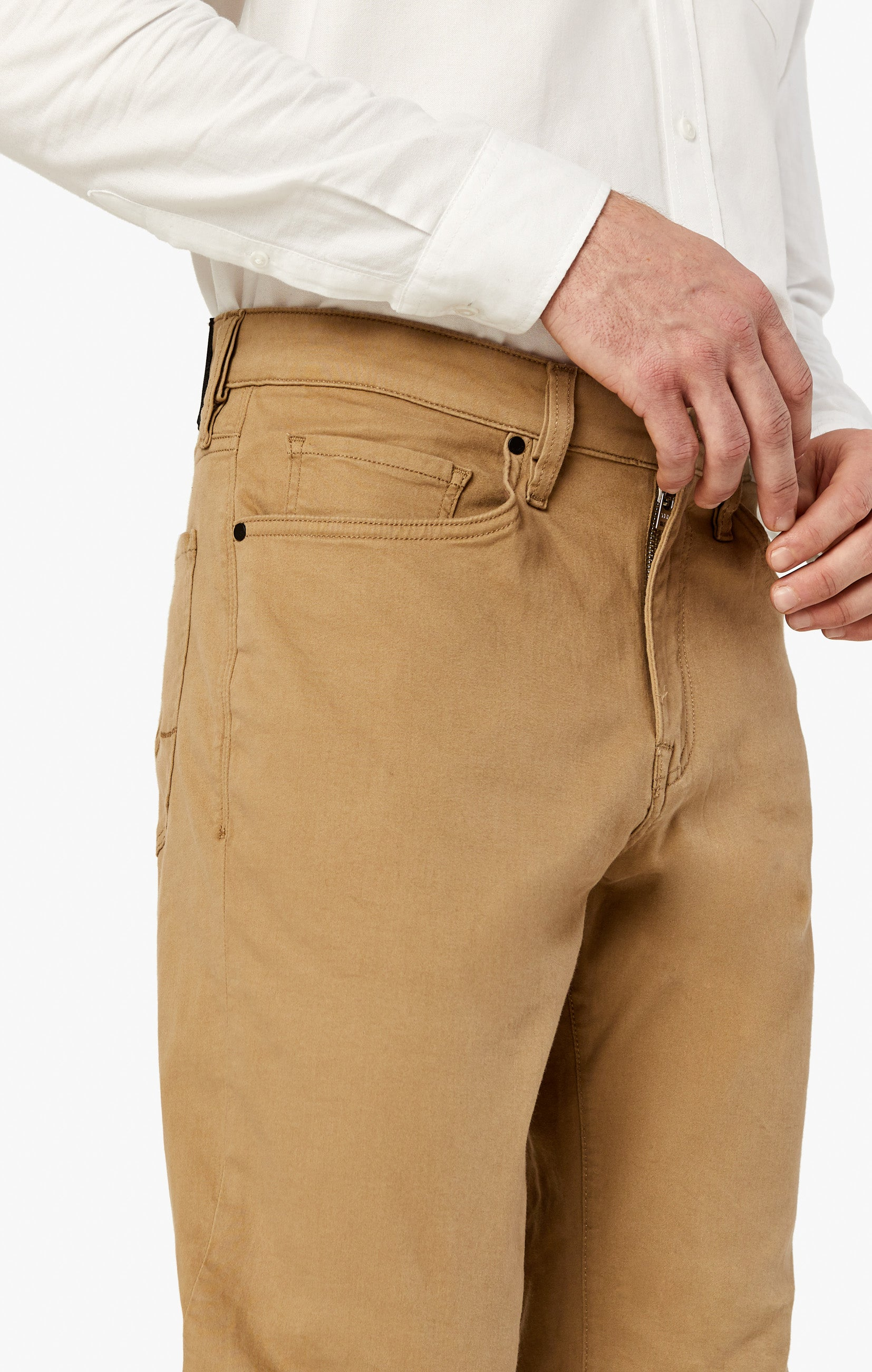 Charisma Relaxed Straight Pants In Khaki Twill Image 8