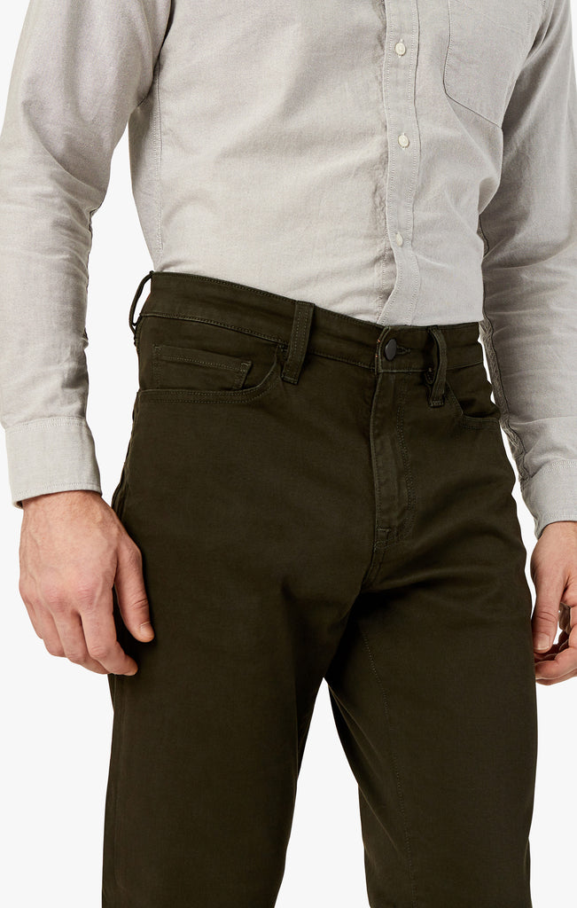 Charisma Relaxed Straight in Dark Green Twill