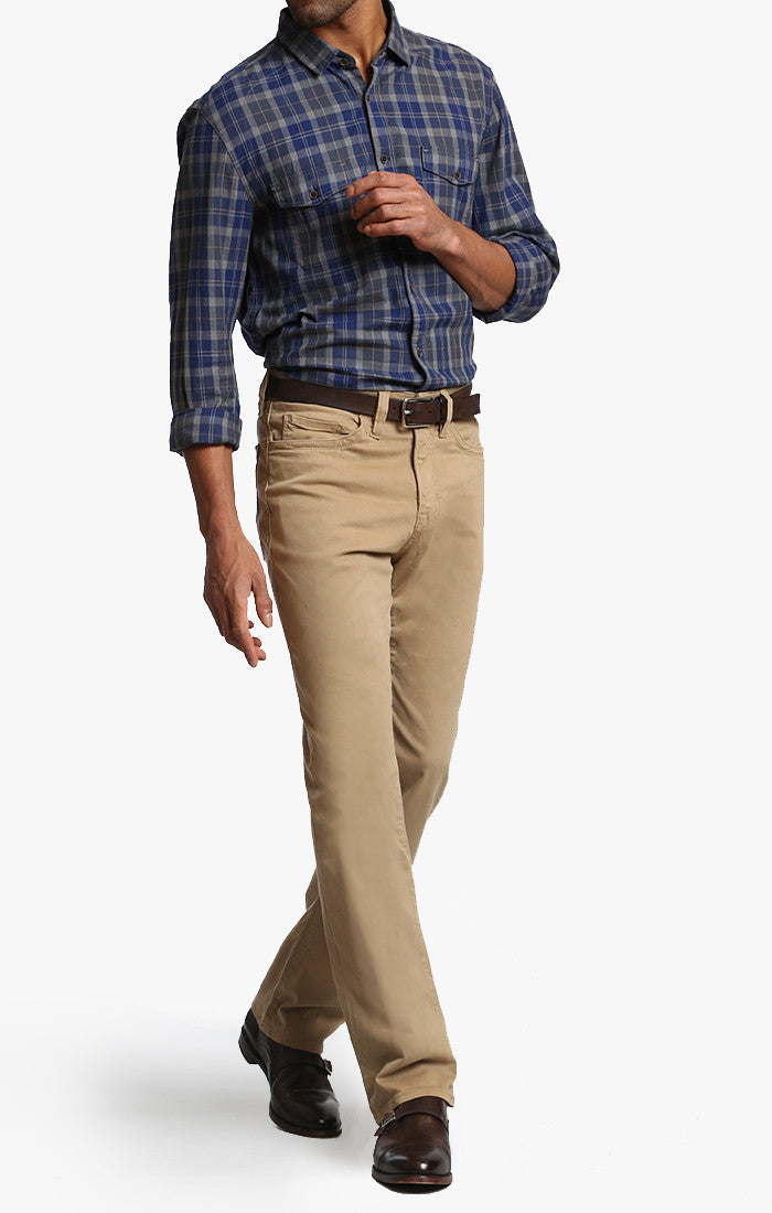 Charisma Relaxed Straight In British Khaki Twill