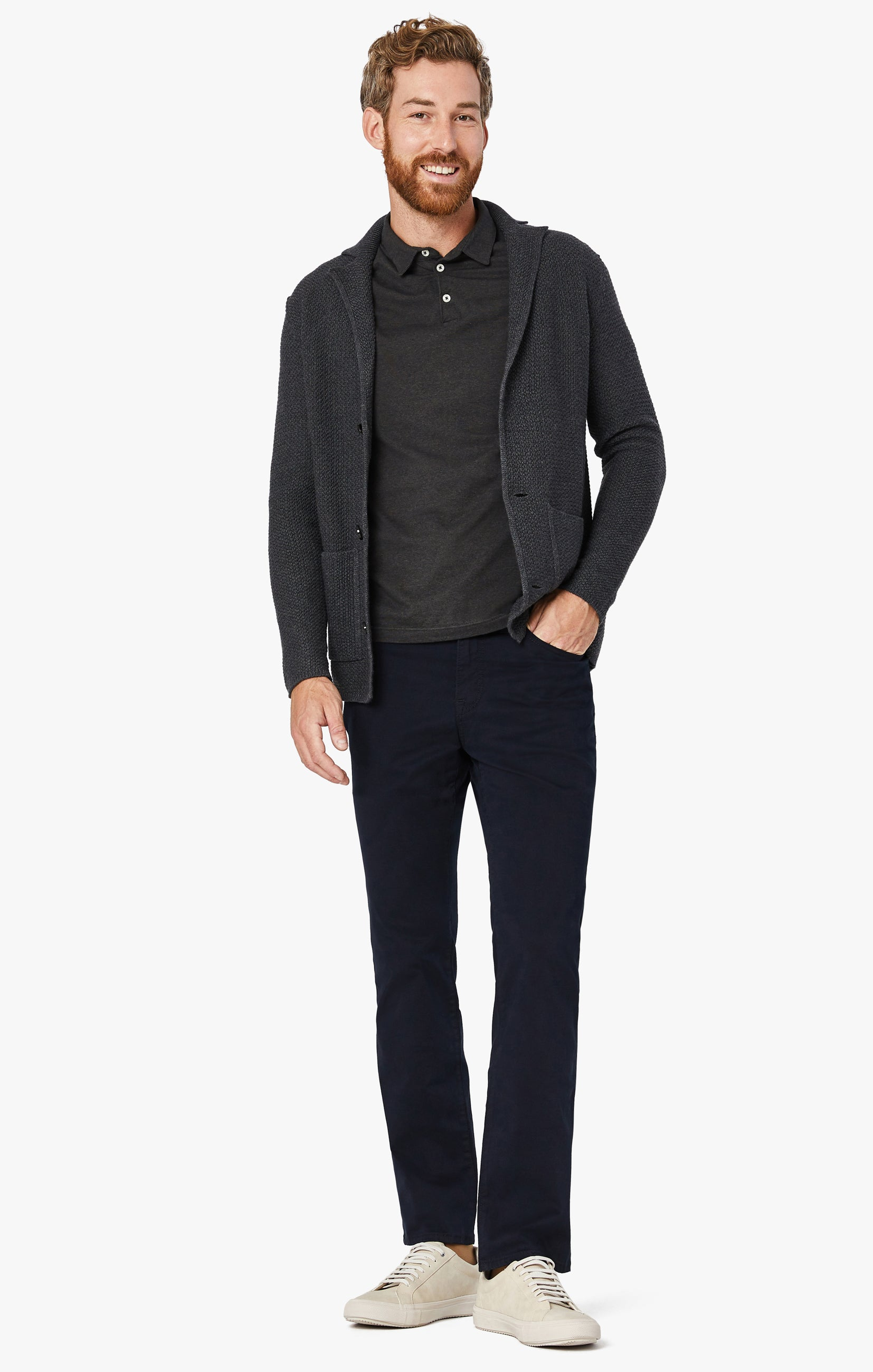 Charisma Relaxed Straight Pants in Navy Twill Image 2