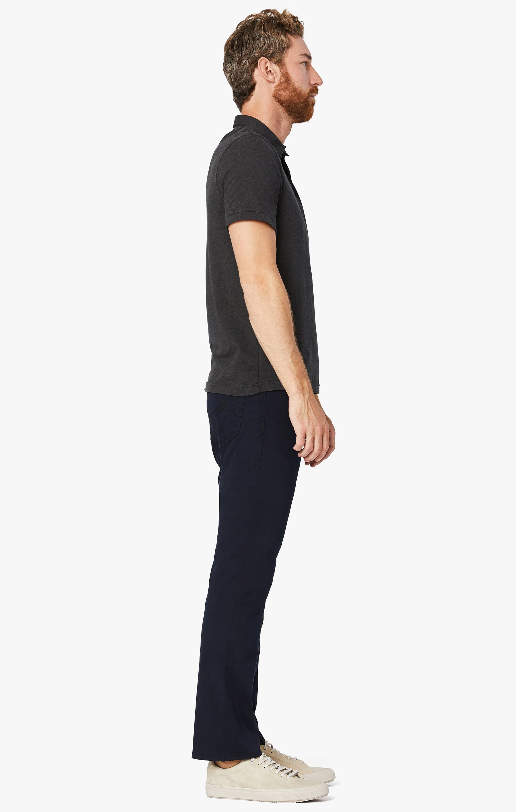Charisma Relaxed Straight Pants in Navy Twill Image 7