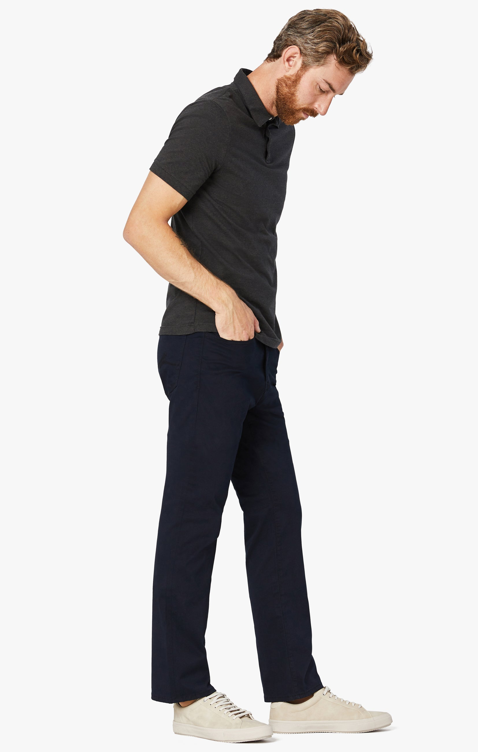 Charisma Relaxed Straight Pants in Navy Twill Image 9