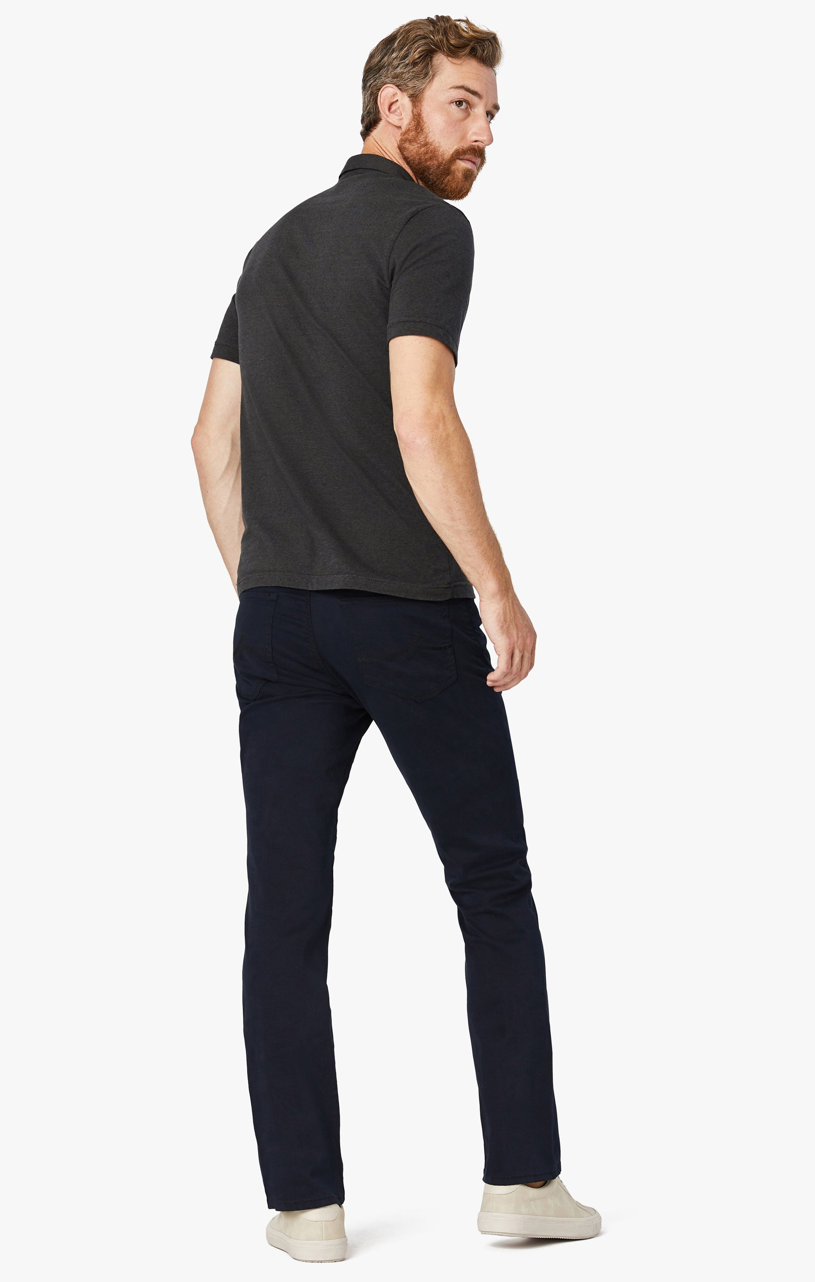 Charisma Relaxed Straight Pants in Navy Twill Image 10