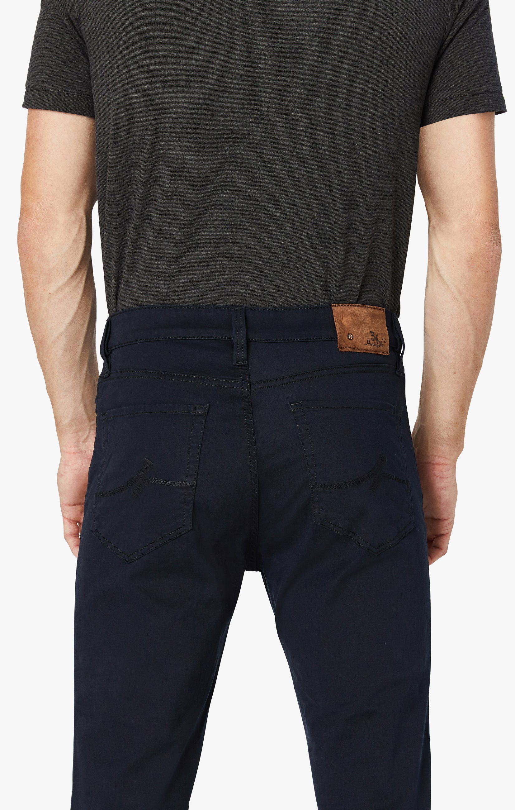 Charisma Relaxed Straight Pants in Navy Twill Image 4