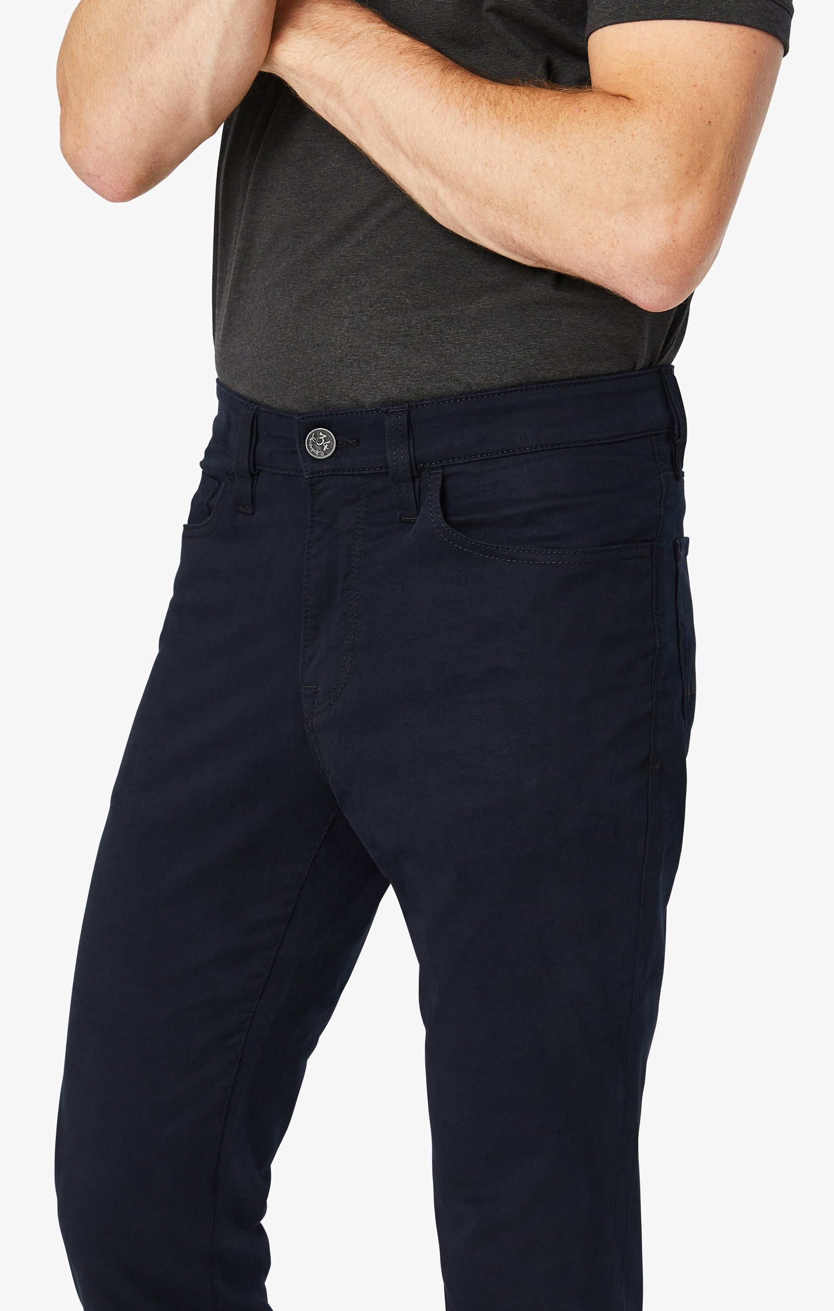 Charisma Relaxed Straight Pants in Navy Twill Image 3