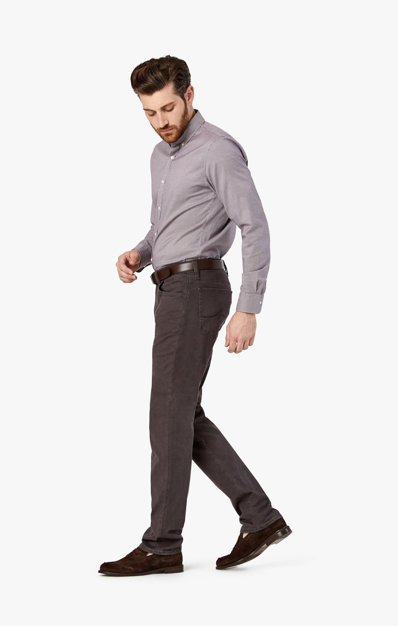 Charisma Relaxed Straight in Anthracite Twill - 34 Heritage
