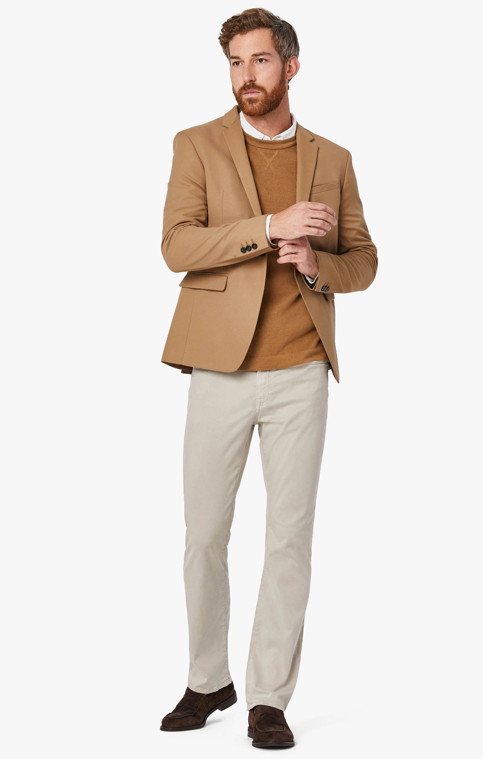 Charisma Relaxed Straight Leg Pants in Dawn Twill Image 2