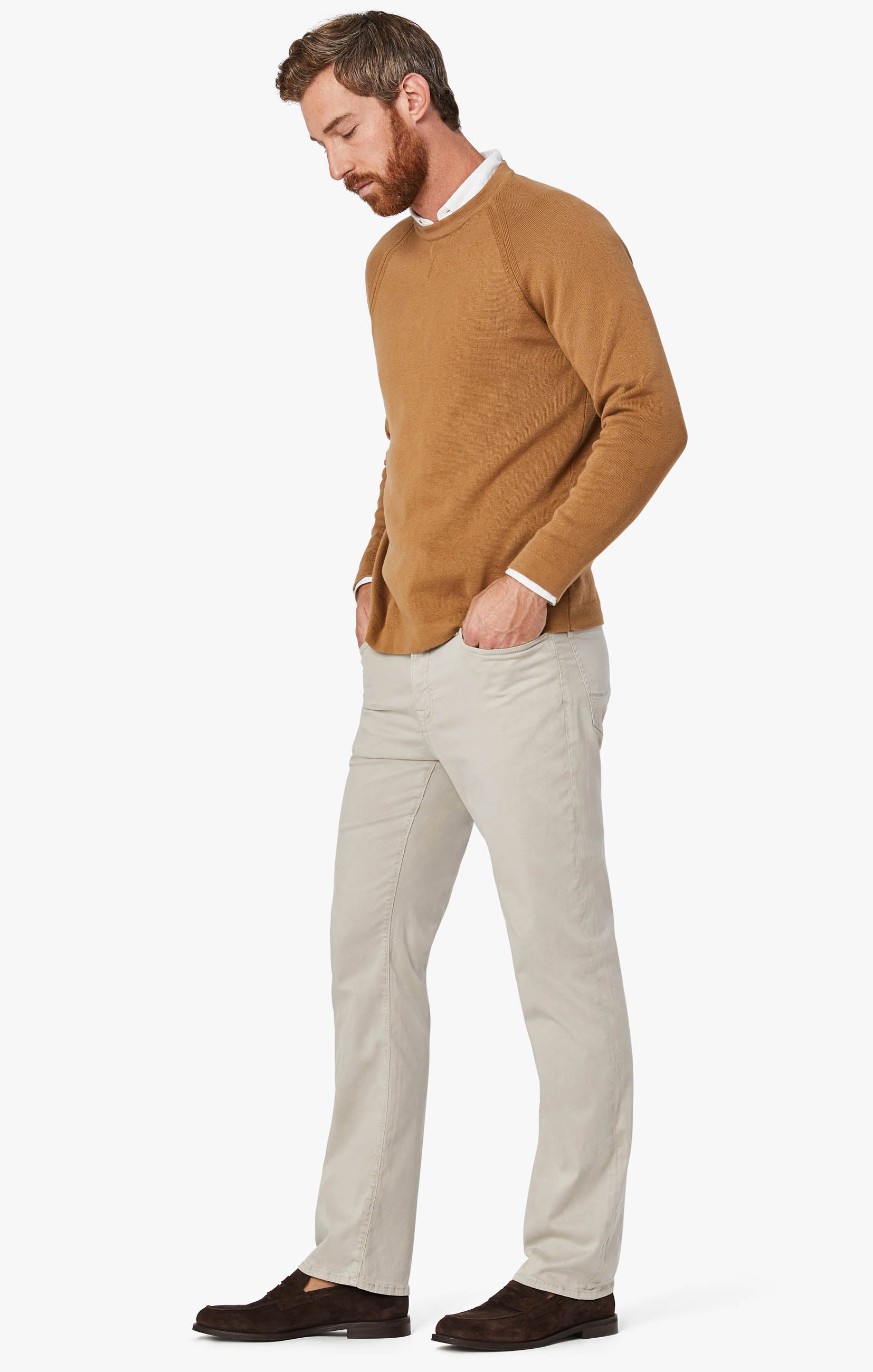 Charisma Relaxed Straight Leg Pants in Dawn Twill Image 4