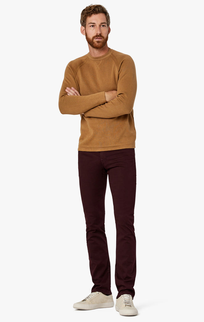 Charisma Relaxed Straight Pants in Wine Twill
