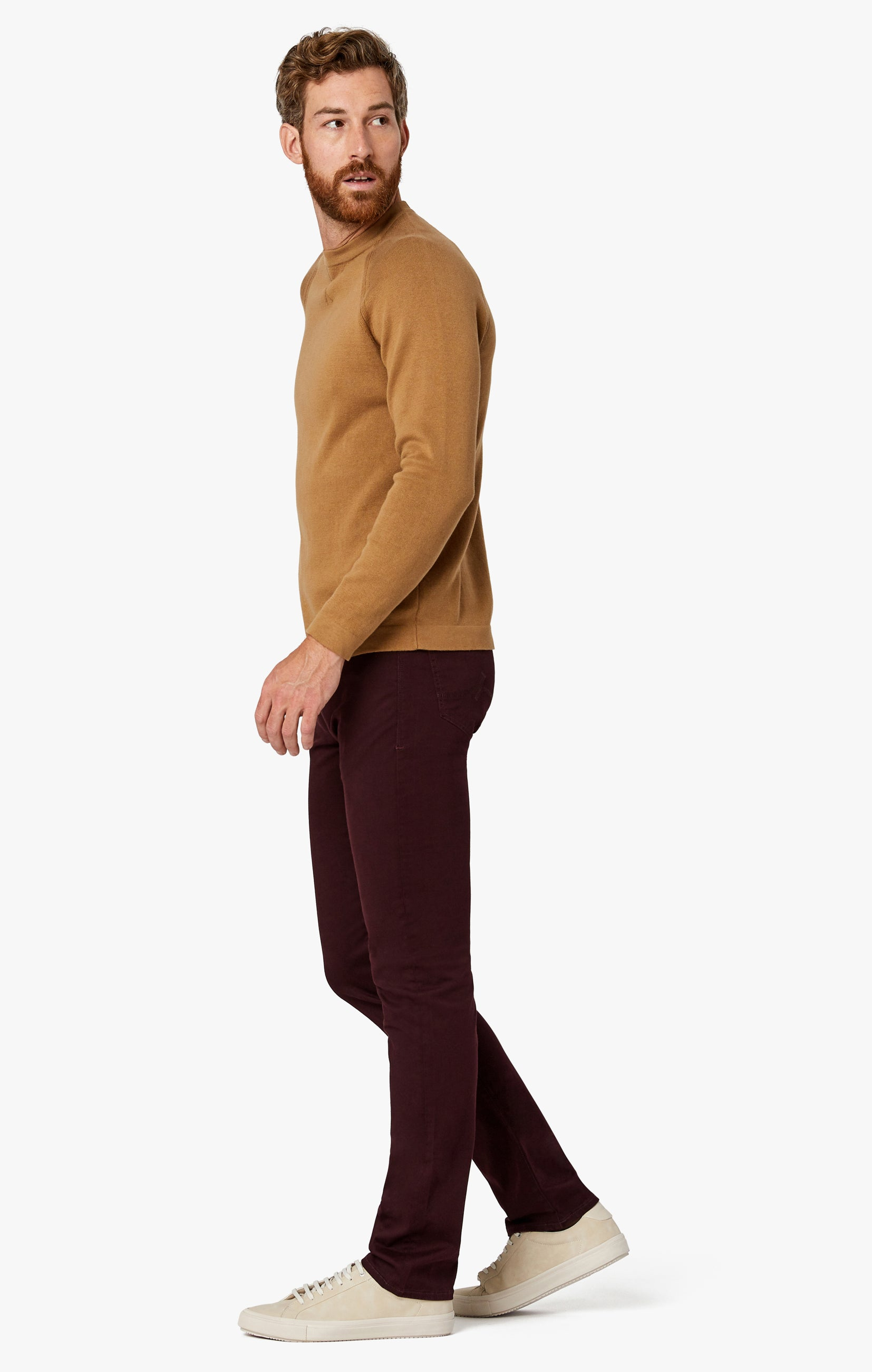 Charisma Relaxed Straight Pants in Wine Twill Image 7