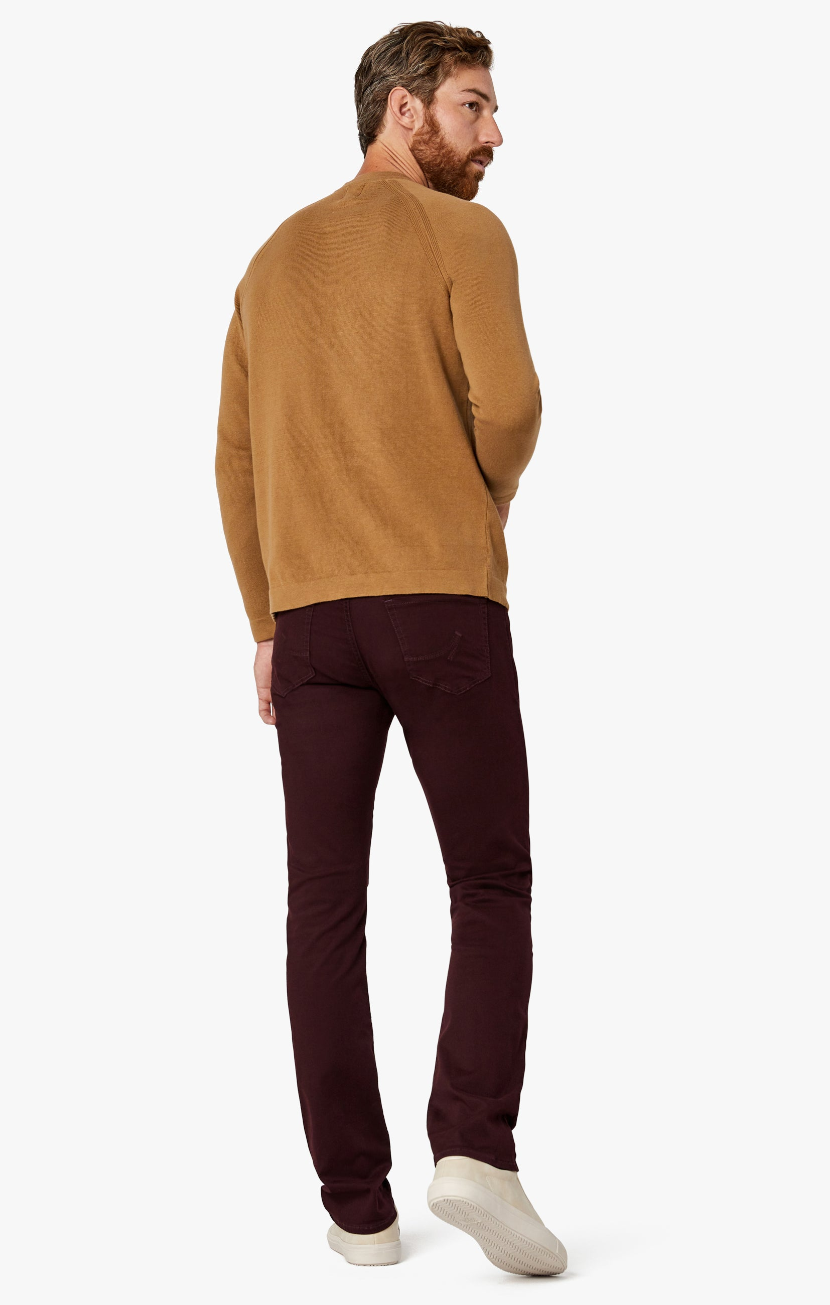 Charisma Relaxed Straight Pants in Wine Twill Image 8
