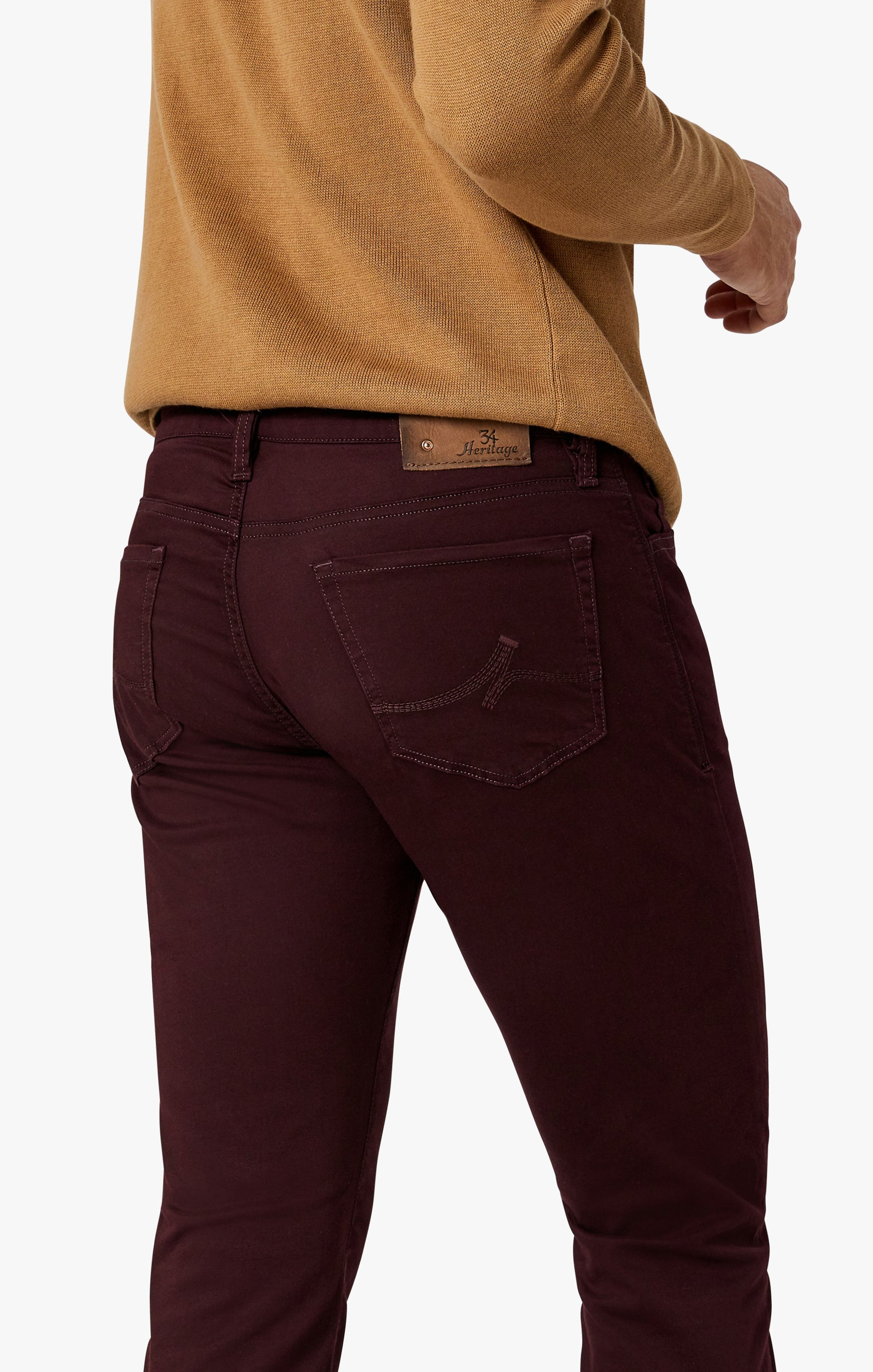 Charisma Relaxed Straight Pants in Wine Twill Image 4