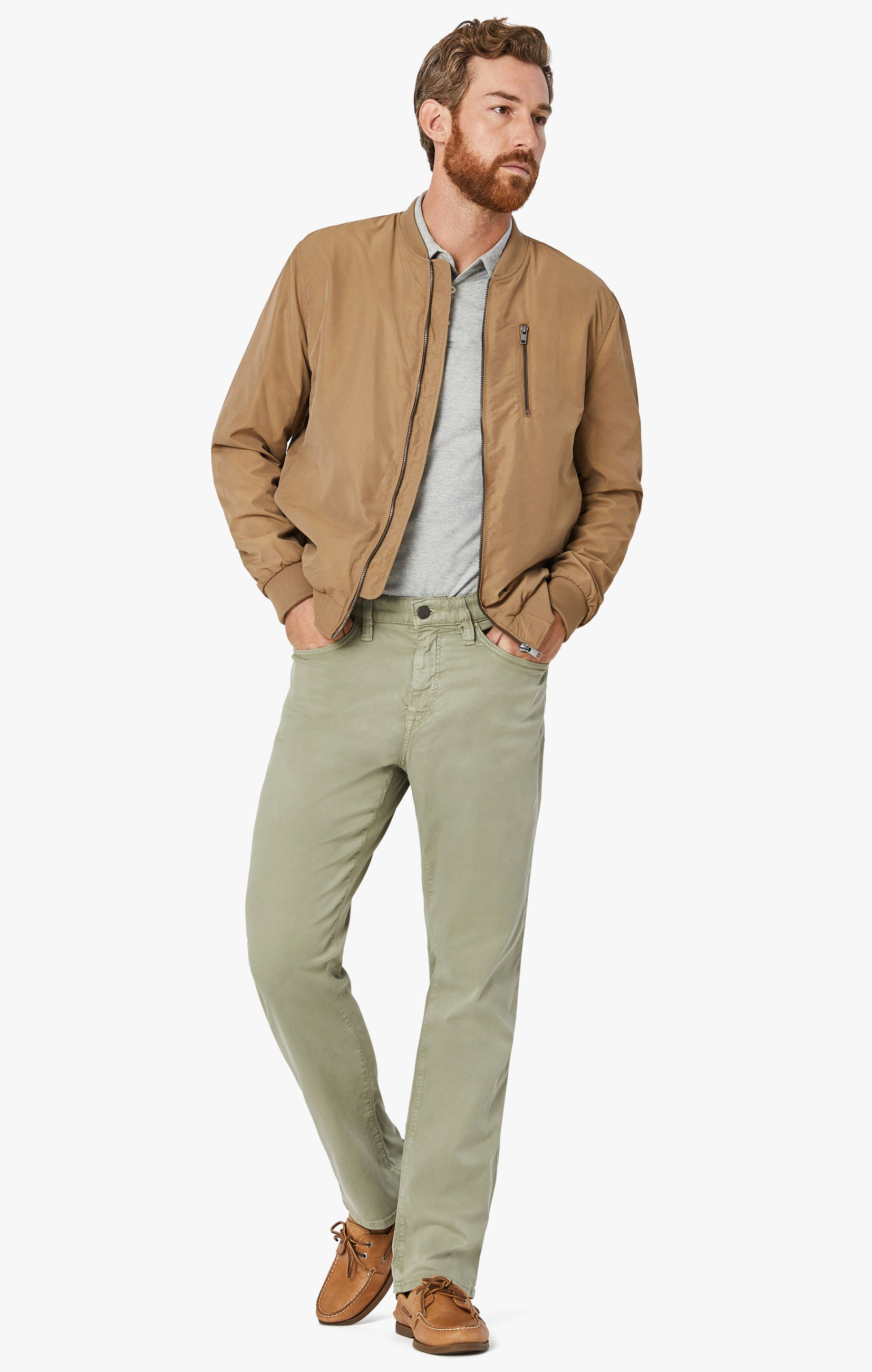 Charisma Relaxed Straight Pants In Sage Soft Touch Image 2
