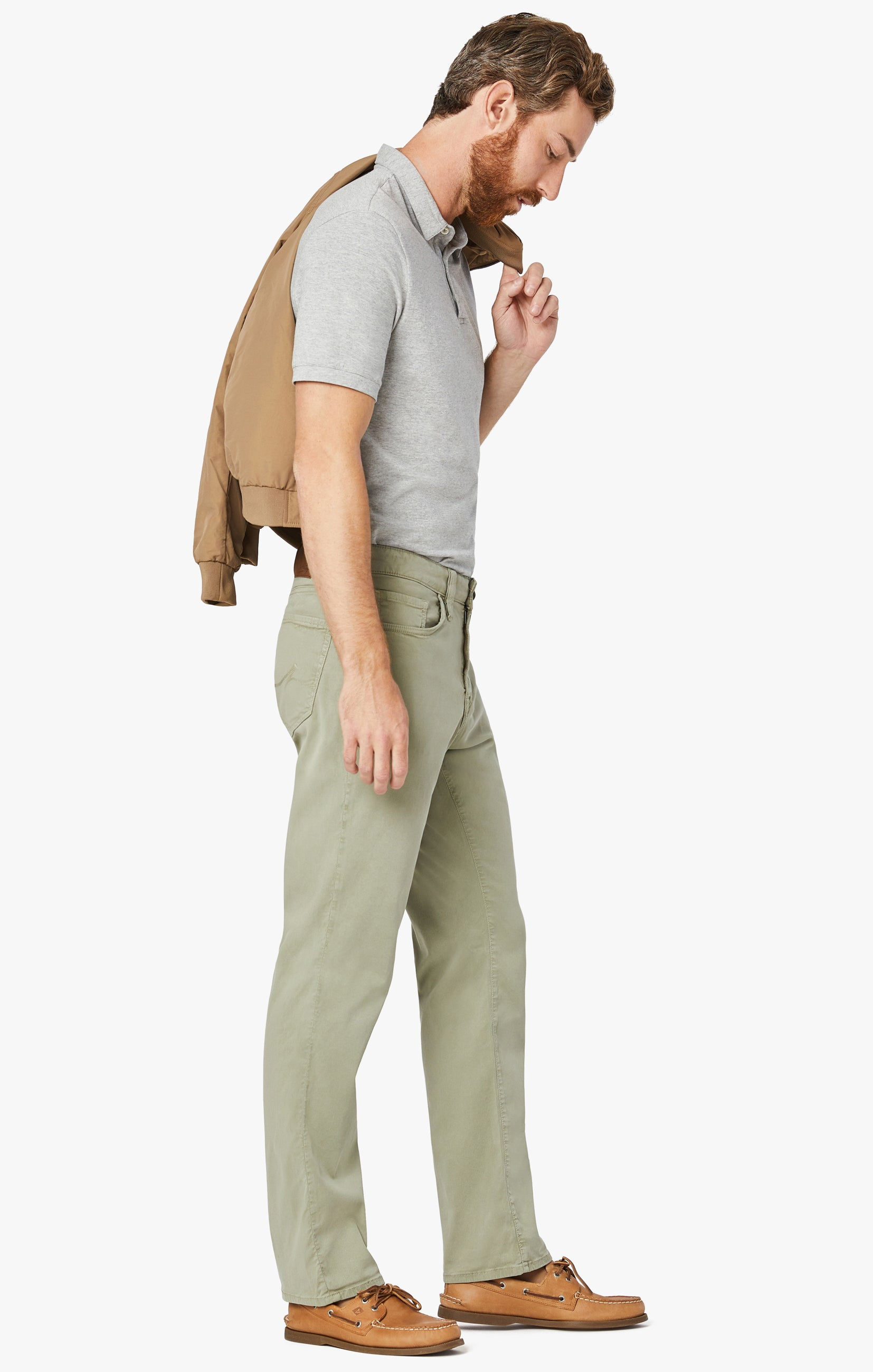 Charisma Relaxed Straight Pants In Sage Soft Touch Image 3