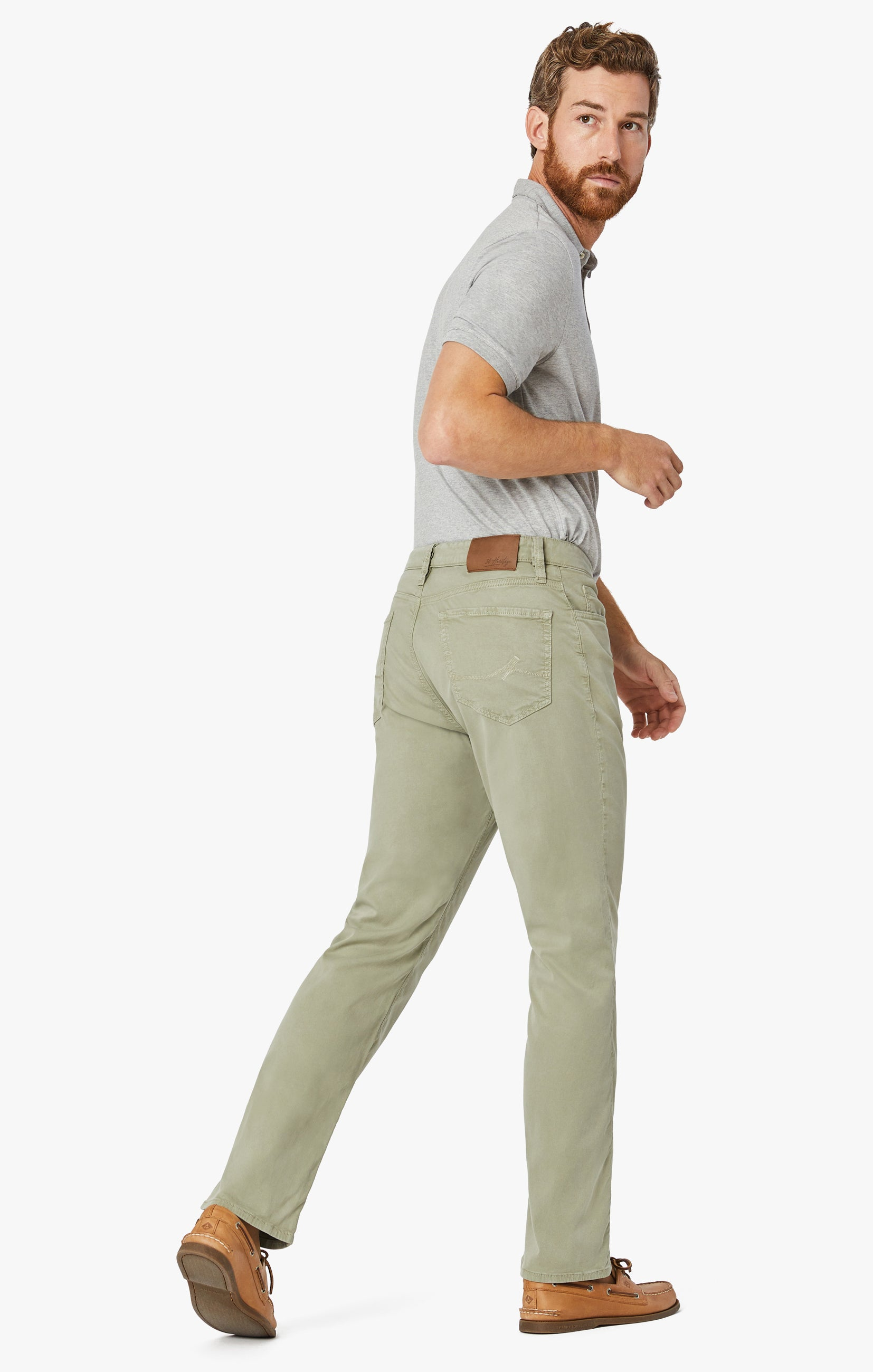 Charisma Relaxed Straight Pants In Sage Soft Touch Image 6