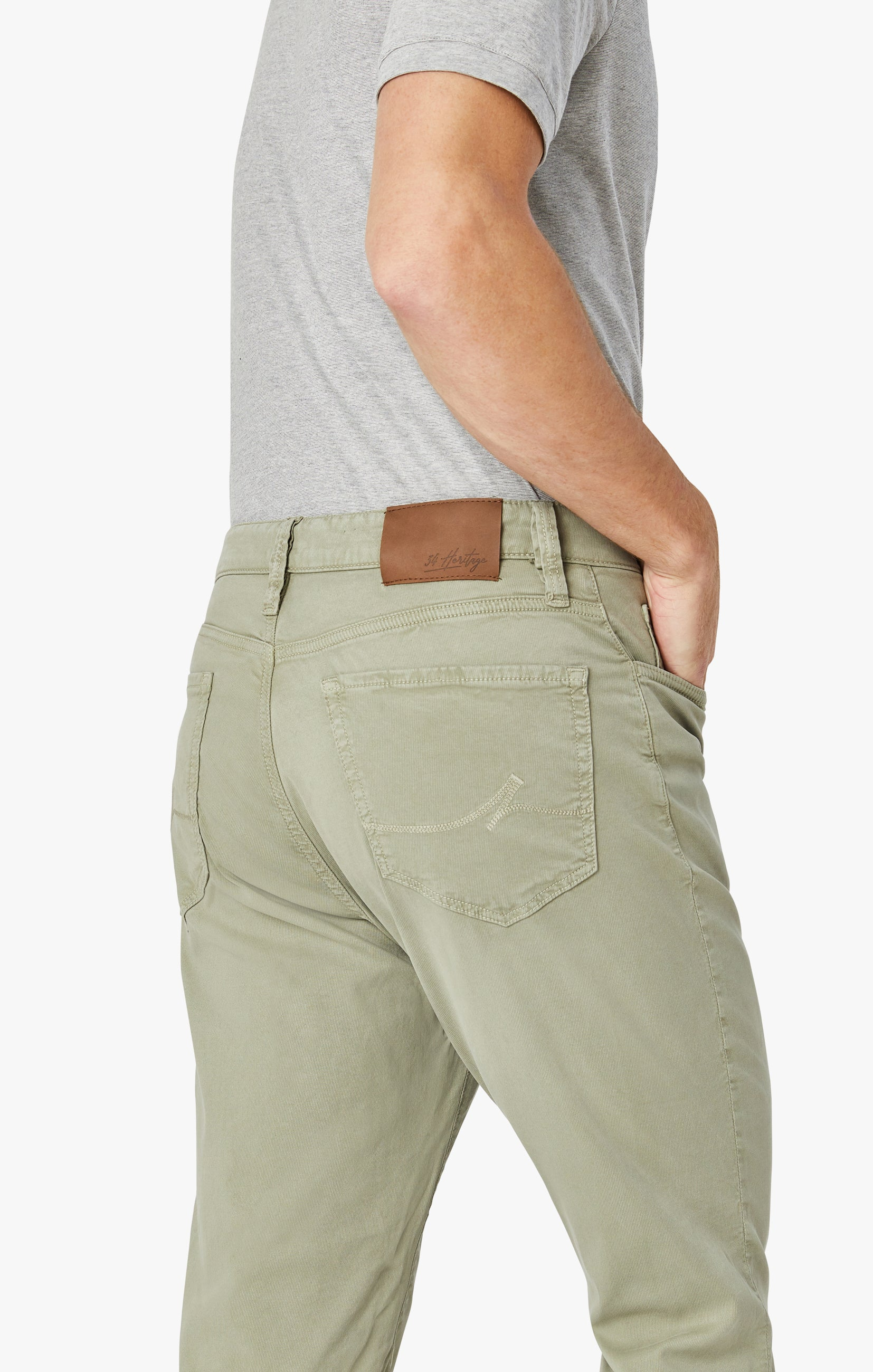 Charisma Relaxed Straight Pants In Sage Soft Touch Image 8