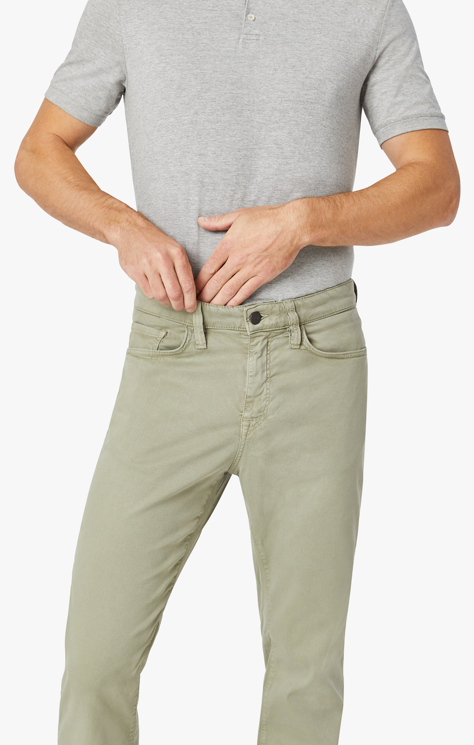 Charisma Relaxed Straight Pants In Sage Soft Touch Image 9