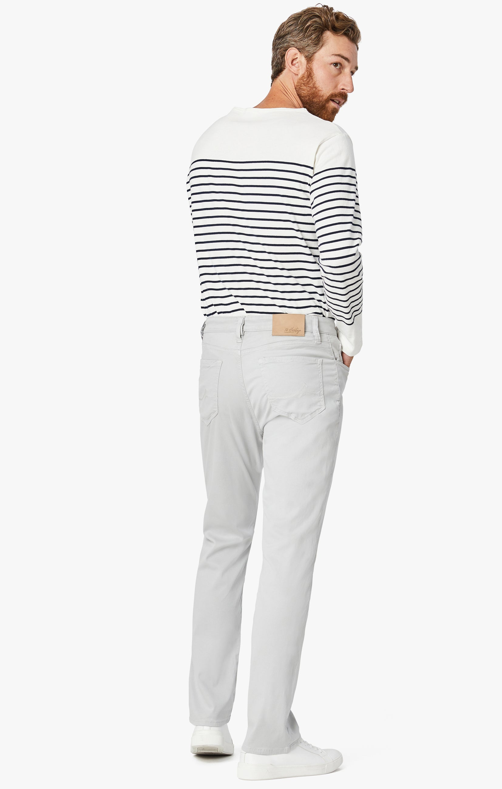 Charisma Relaxed Straight Pants In Stone Soft Touch Image 2
