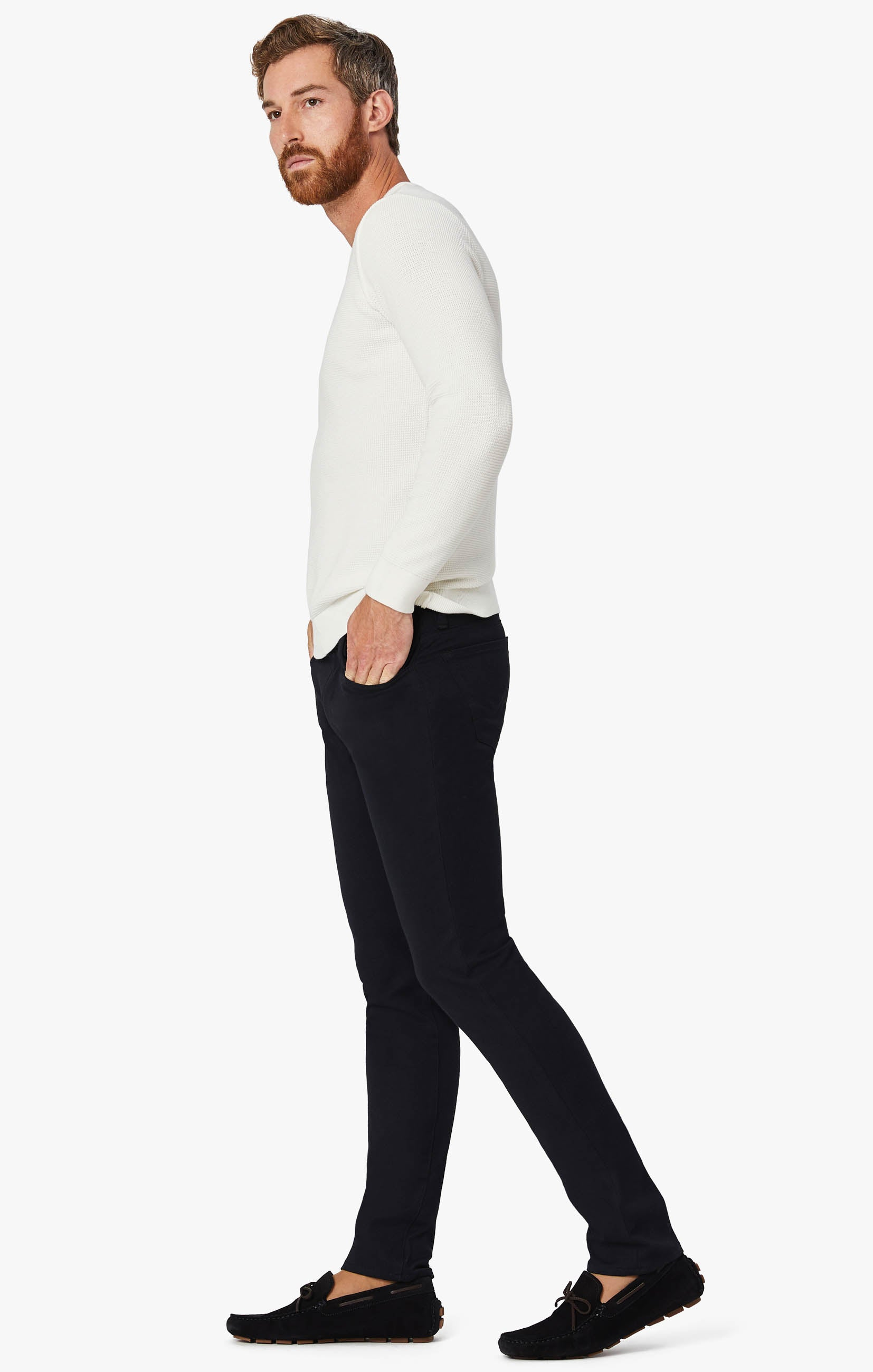 Charisma Classic Fit Pants in Navy Winter Cashmere Image 1