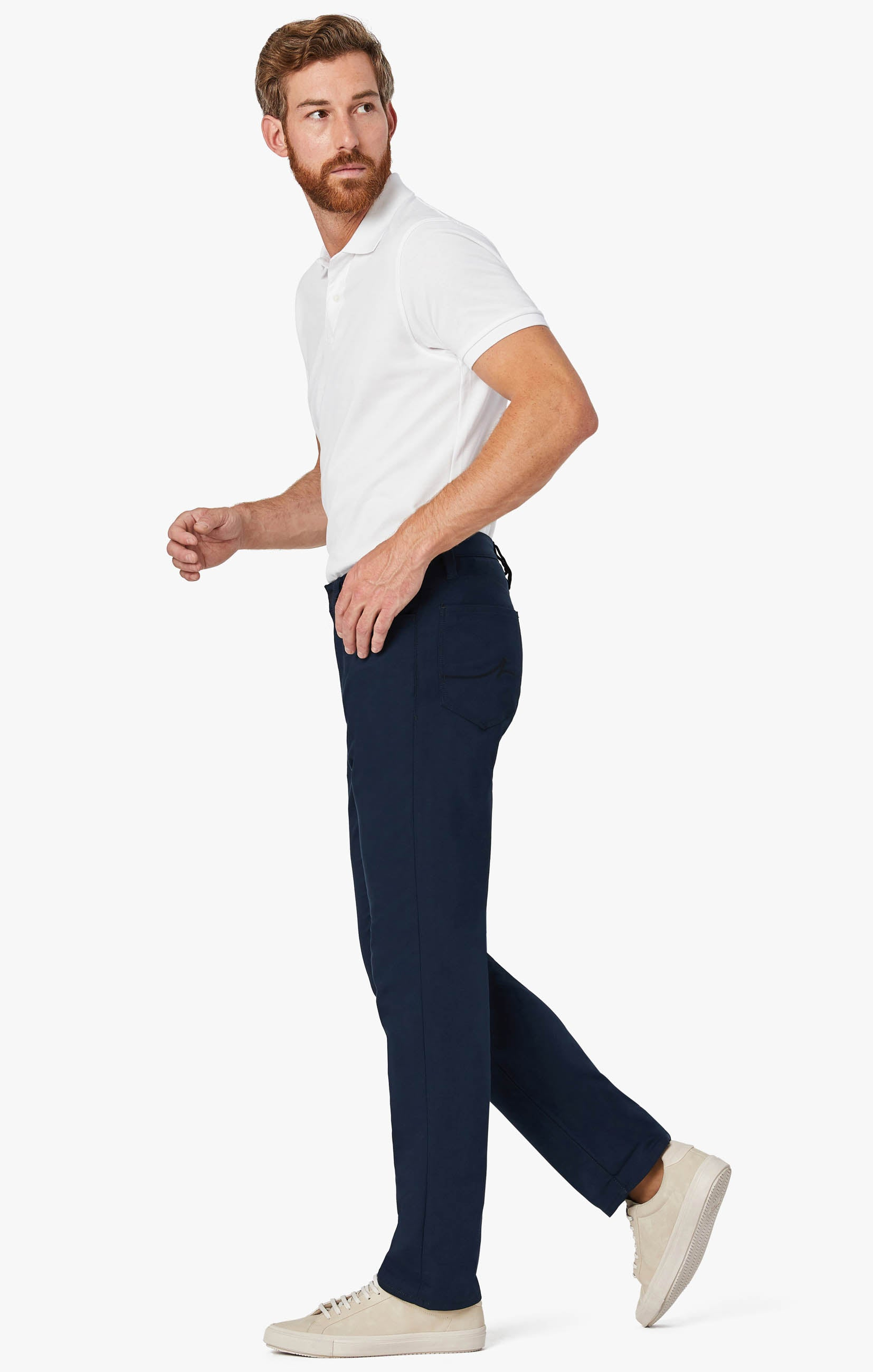 Charisma Relaxed Straight Commuter Pants In Navy Image 1