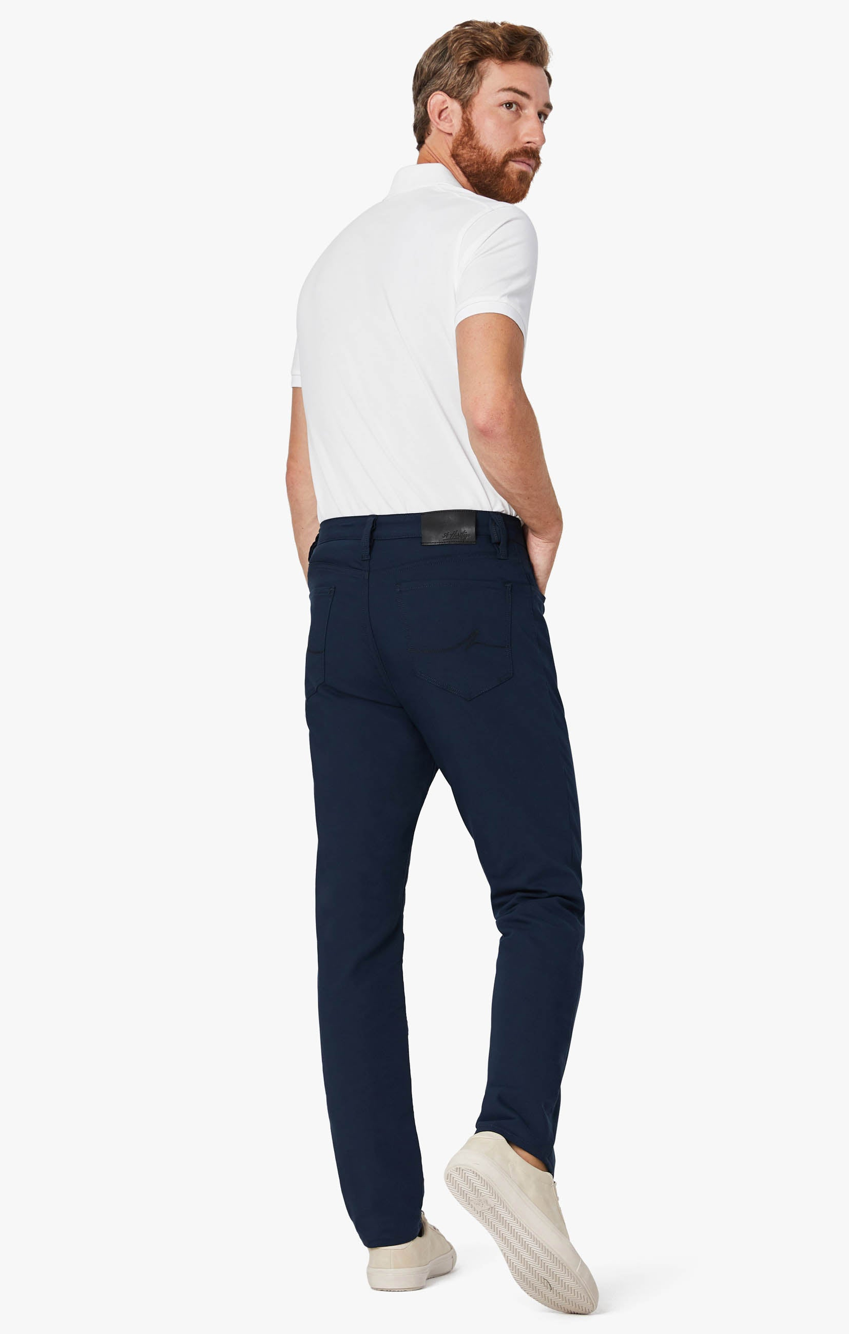 Charisma Relaxed Straight Commuter Pants In Navy Image 3