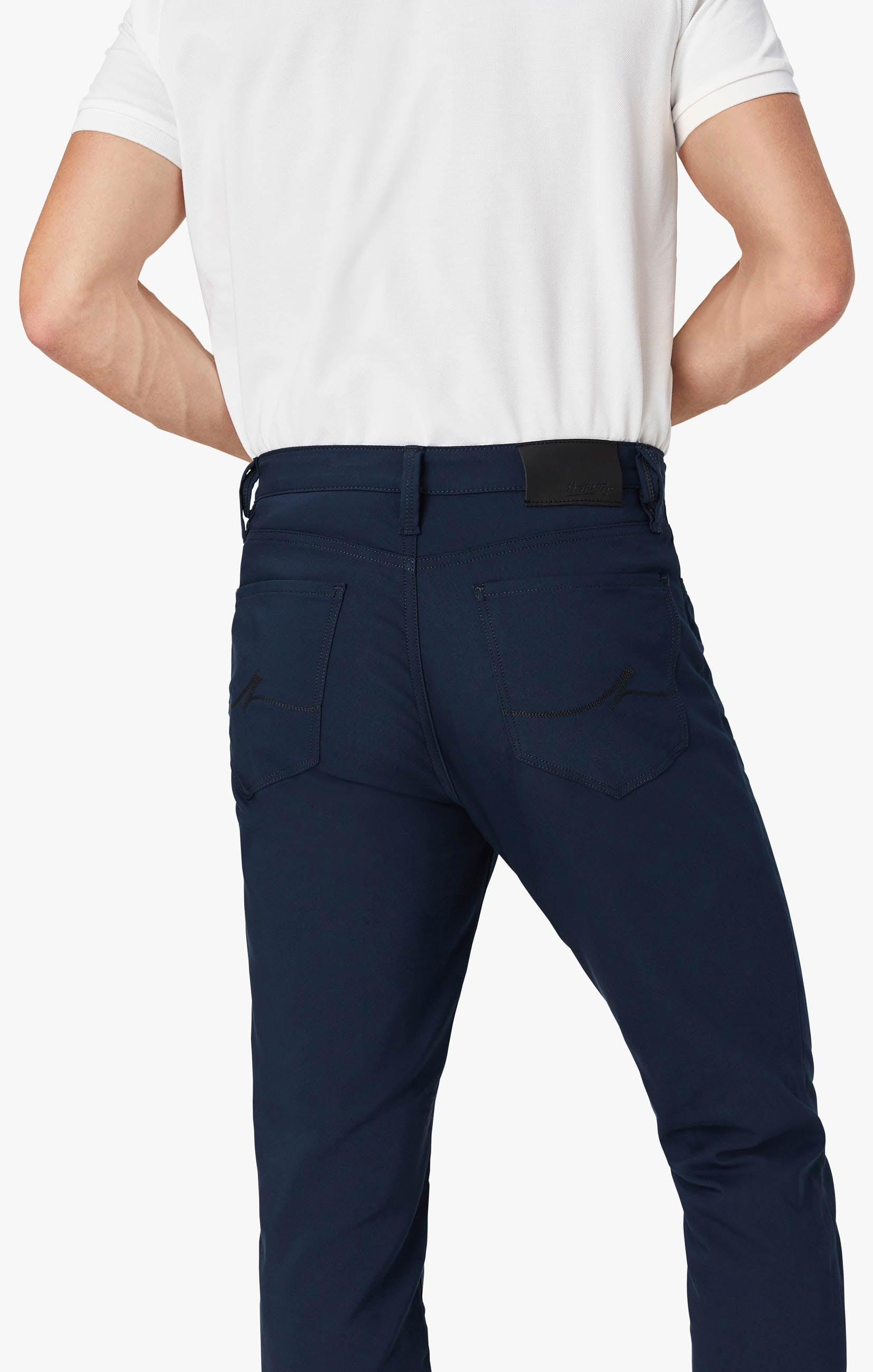 Charisma Relaxed Straight Commuter Pants In Navy Image 4
