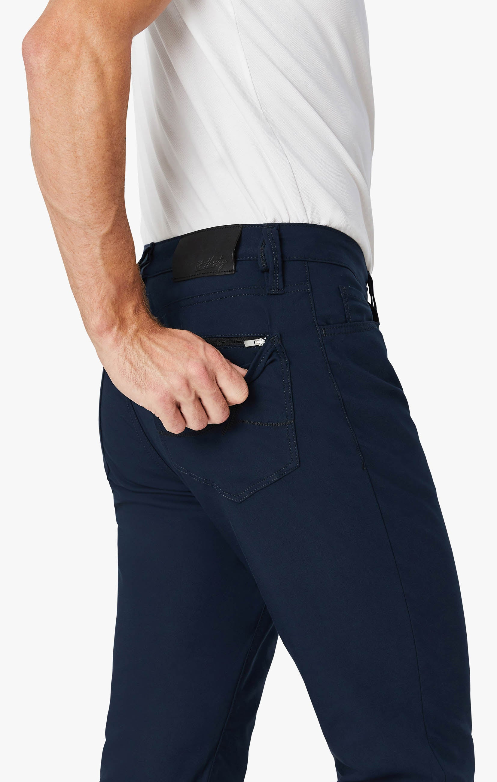Charisma Relaxed Straight Commuter Pants In Navy Image 5