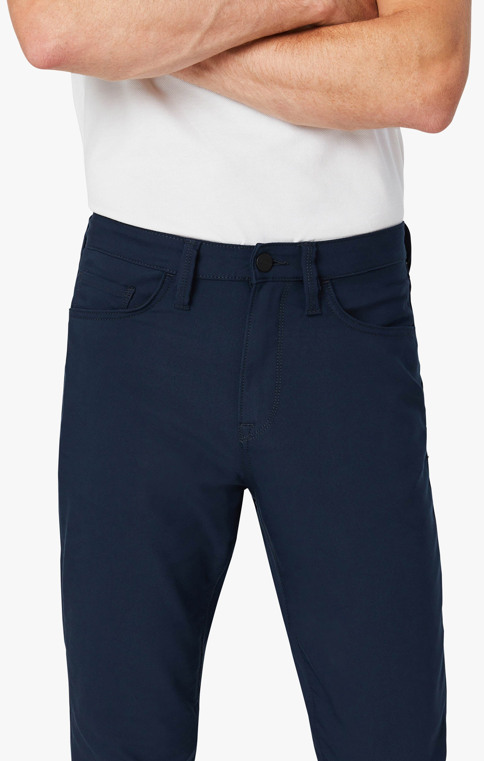 Charisma Relaxed Straight Commuter Pants In Navy Image 6